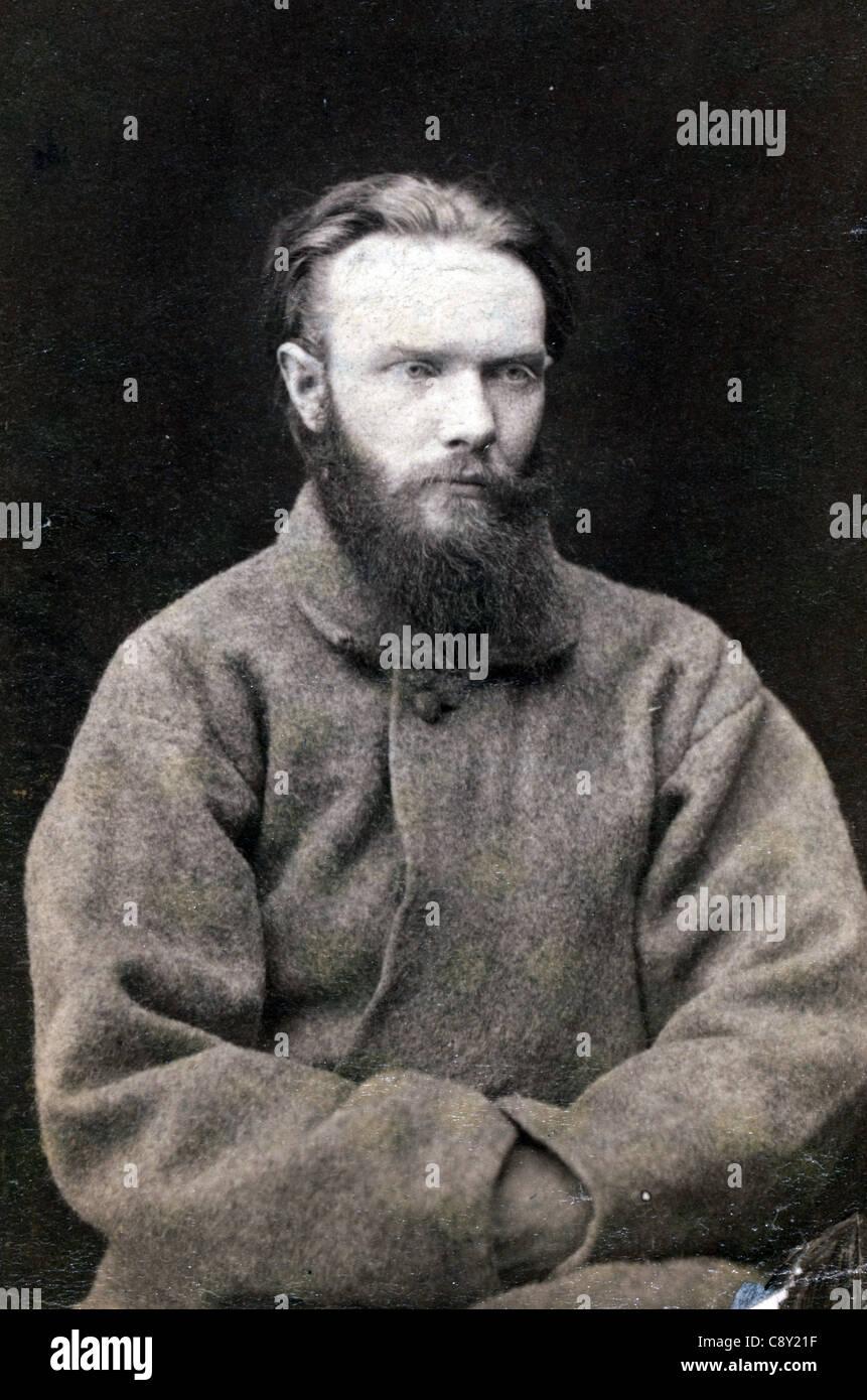 Nikolai Pavlovich Shchedrin, Russian revolutionary - Stock Image
