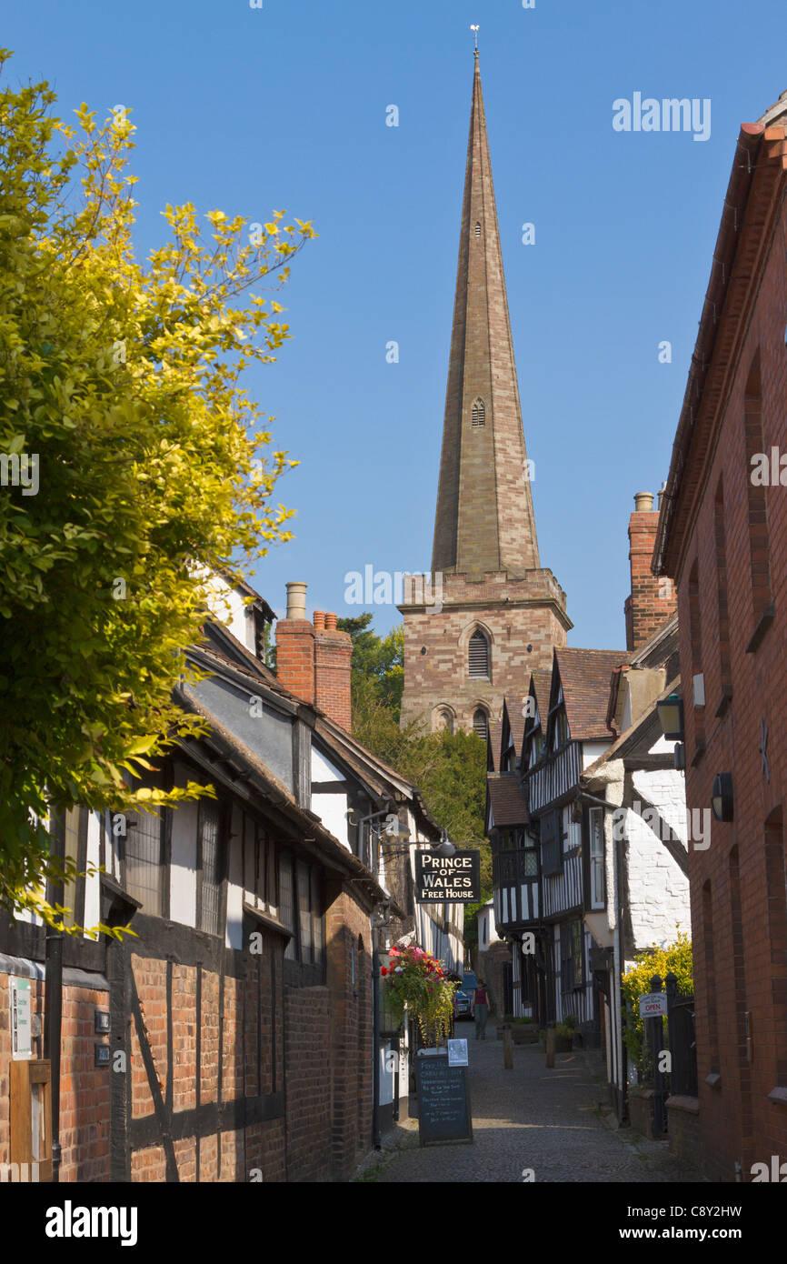Church lane, Ledbury - Stock Image
