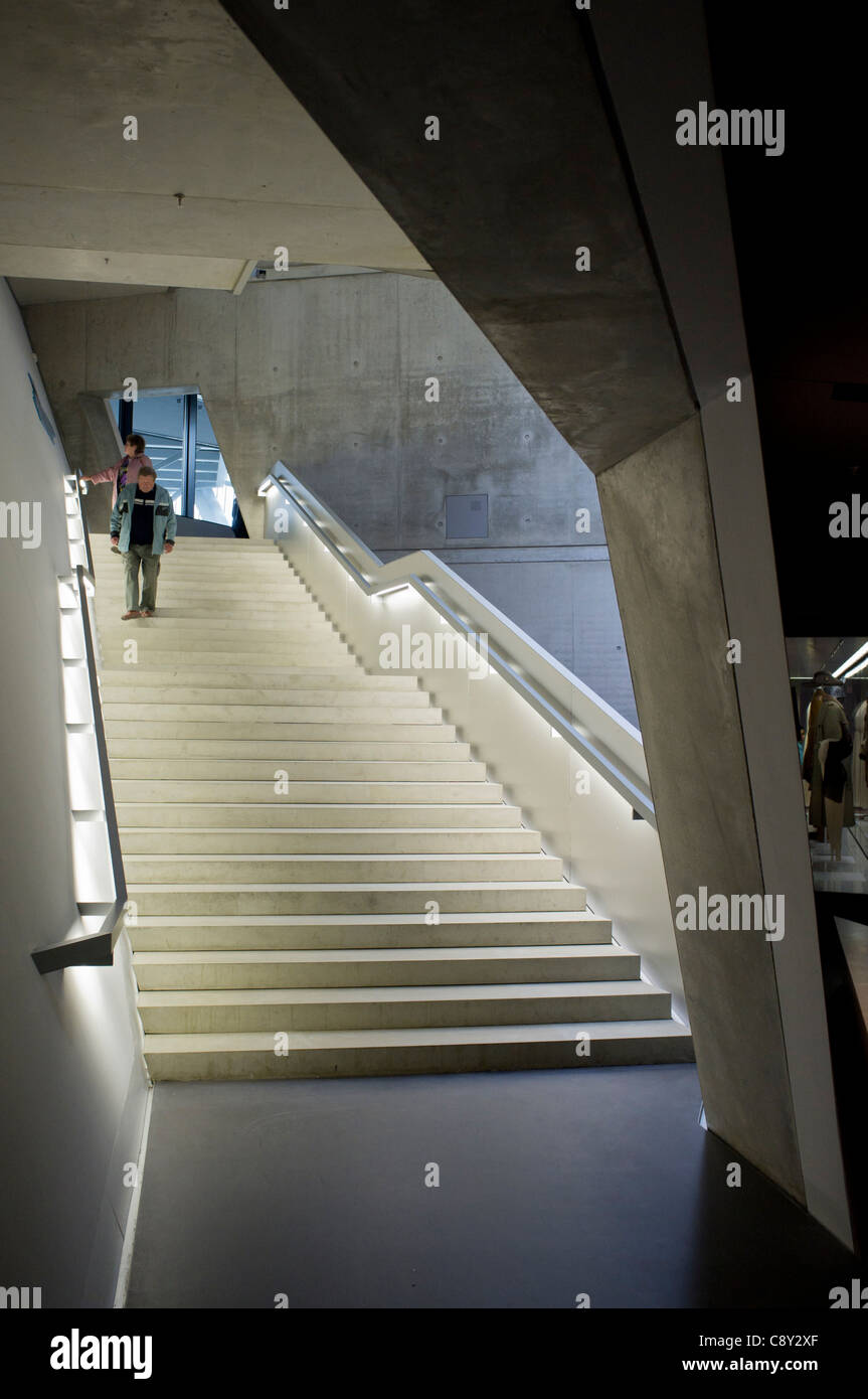 Interior of Military Historical Museum of the Bundeswehr (MHM) in Dresden Saxony Germany Architect Daniel Libeskind - Stock Image