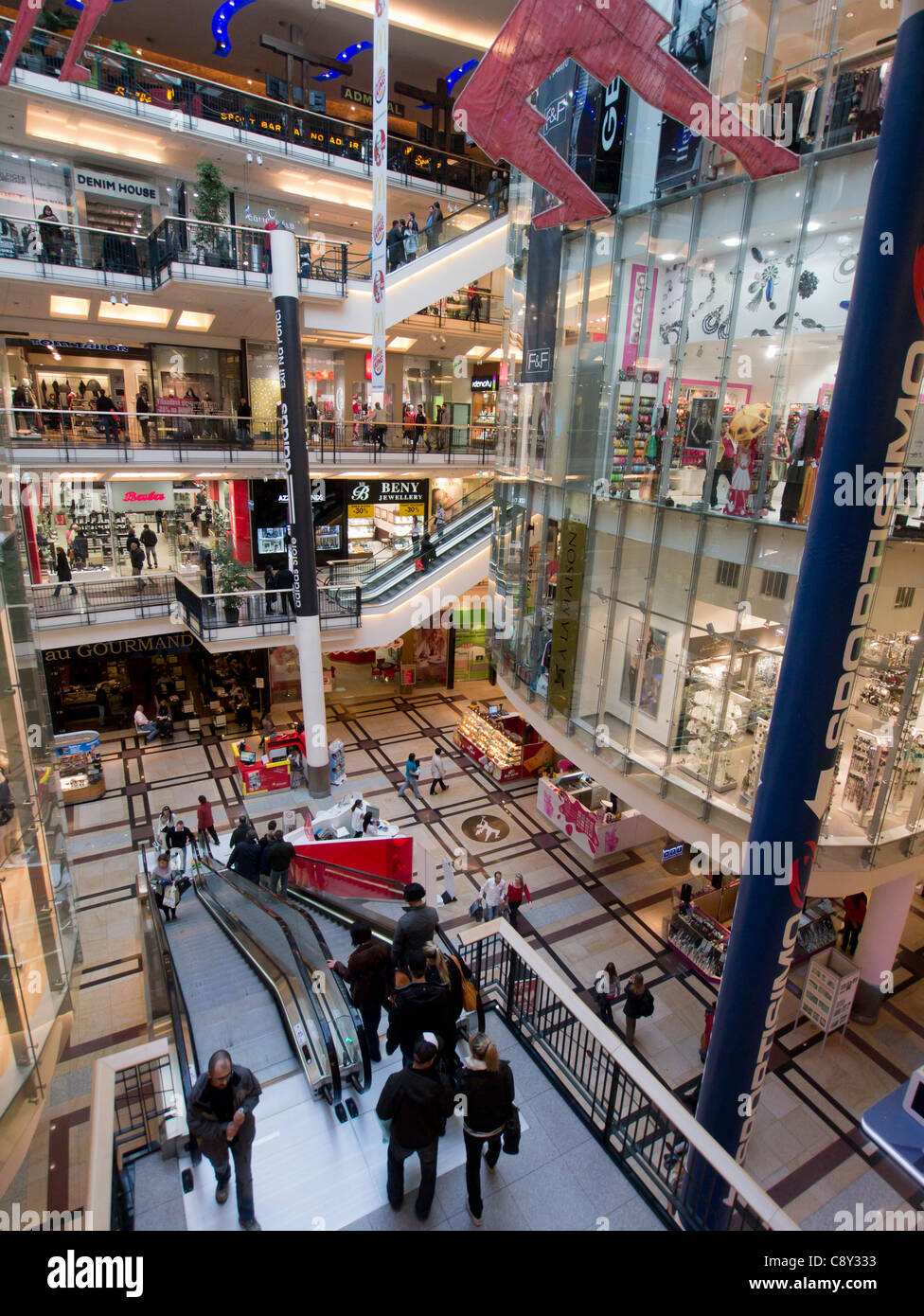 Palladium Shopping Mall in Prague in Czech Republic - Stock Image