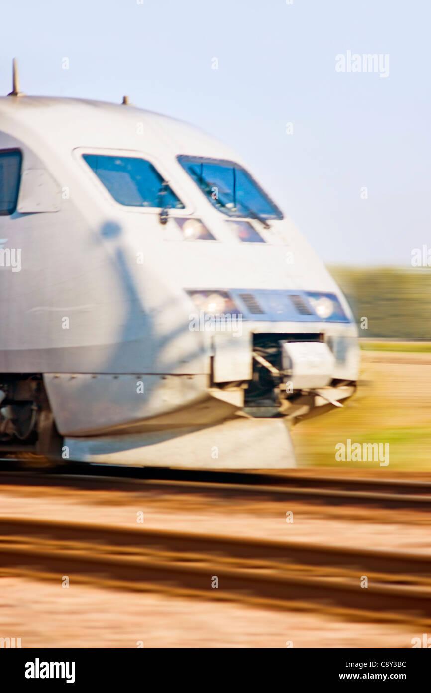 High speed train (motion blur) - Stock Image