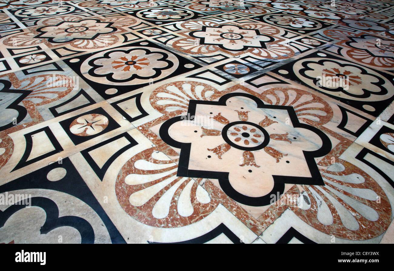 Milan - floor of Dom - Stock Image