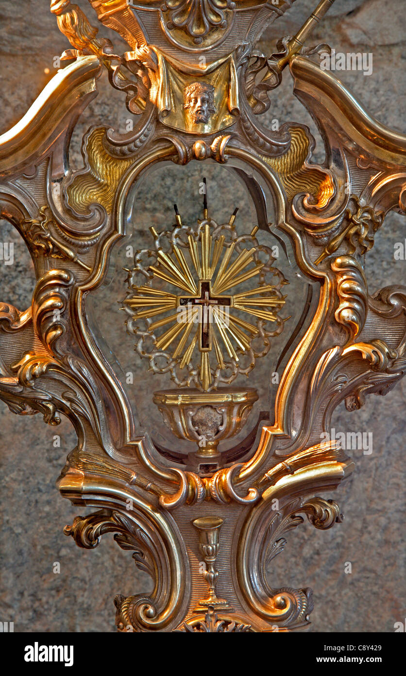 Milan - relic of holy Cross - museum by Cappella Portinari - Stock Image