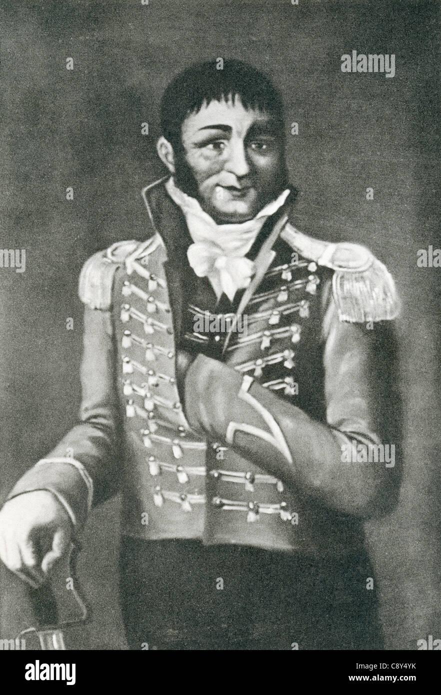 Francisco Sánchez Fernández, 1762 -1811, aka Tío Camuñas or Francisquete. Guerilla fighter during - Stock Image