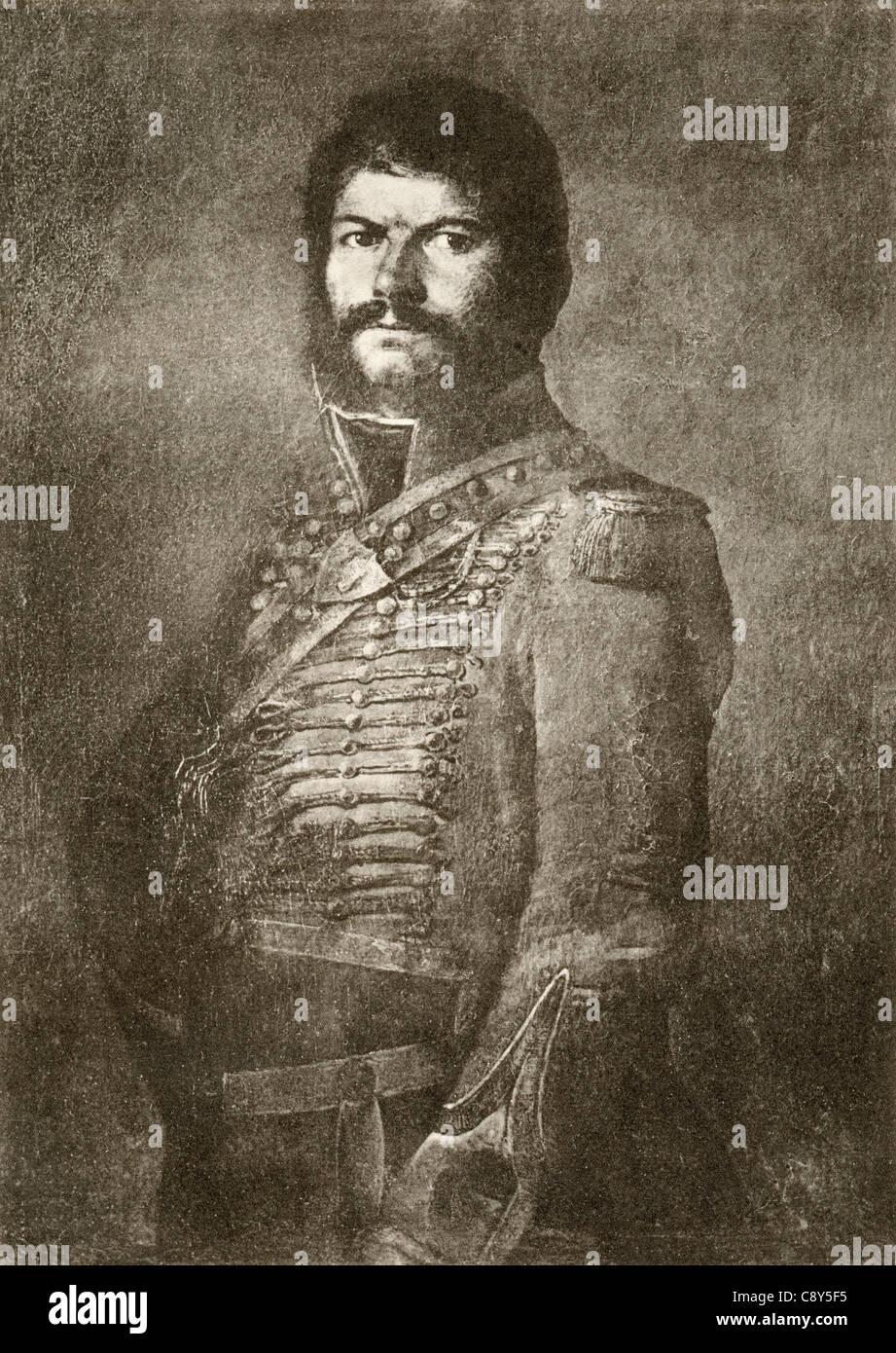 Juan Martín Díez, El Empecinado, 1775 -1825. Spanish soldier and guerilla leader during the Spanish War - Stock Image