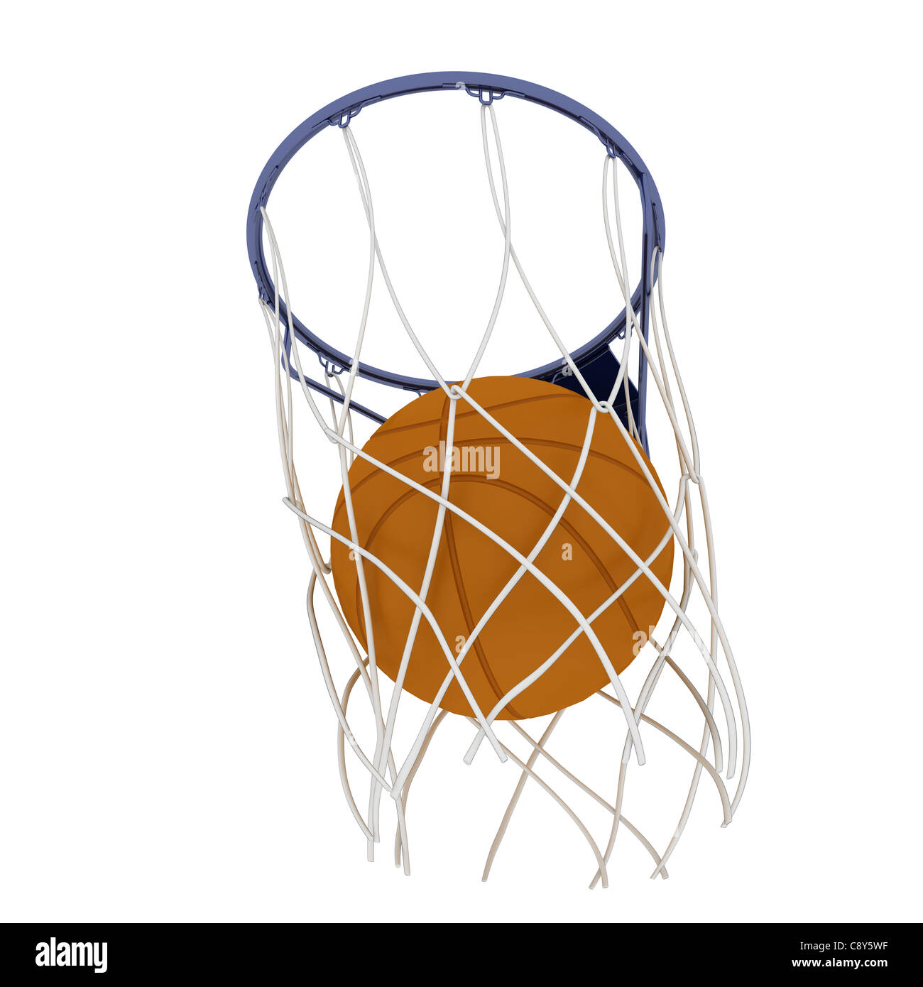 Two basketball items - Stock Image