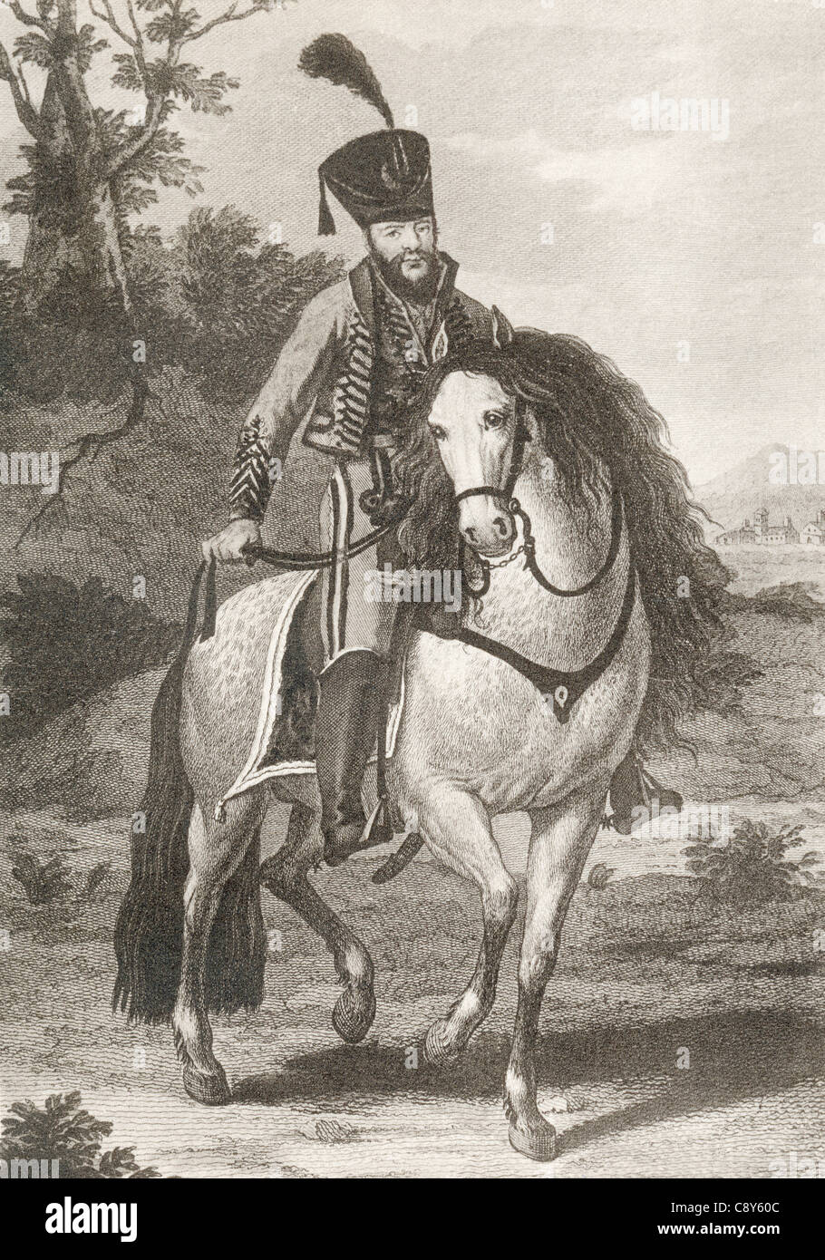 Francisco Abad Moreno, also called El Chaleco,1788 – 1827. Famous guerilla fighter during the Spanish War of Independence. - Stock Image
