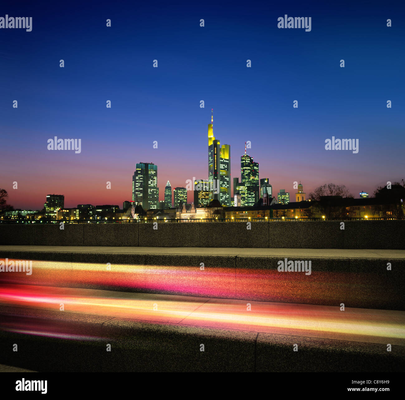 megapolis in the night and motion light - Stock Image