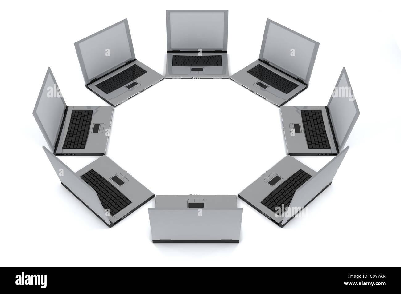 Laptops - Stock Image