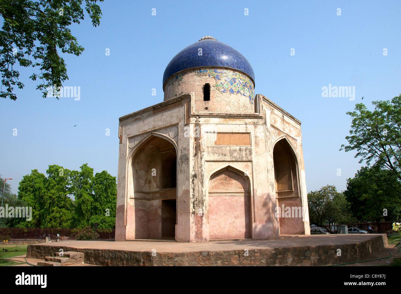 Sabz Burj hexagonal tomb Delhi India - Stock Image