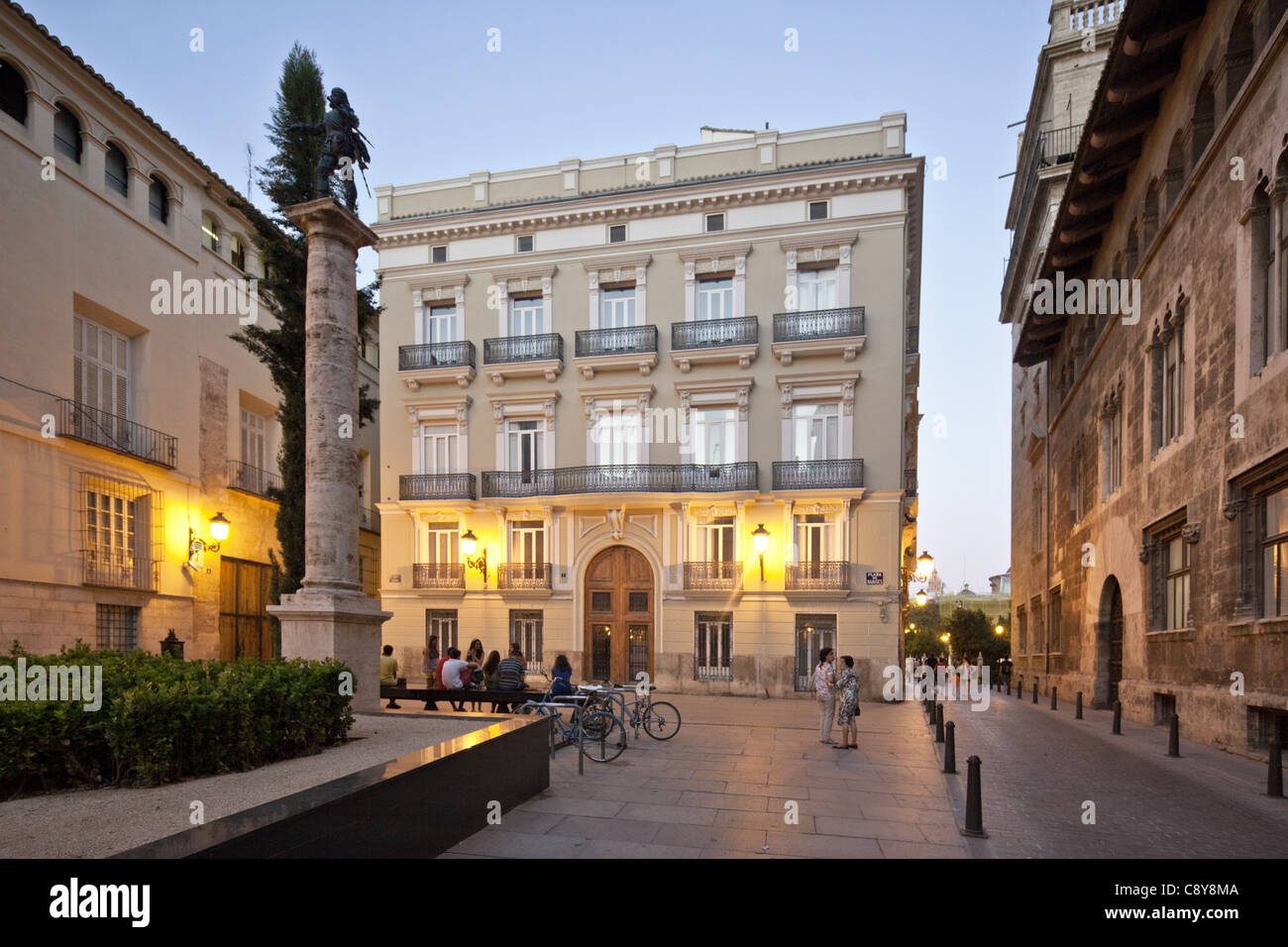 Seat of Government at Plaza de Manises in old city center of Valencia, Spain Stock Photo