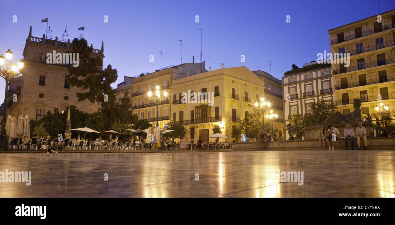 Plaza de la Virgin, Valencia, Spain Stock Photo