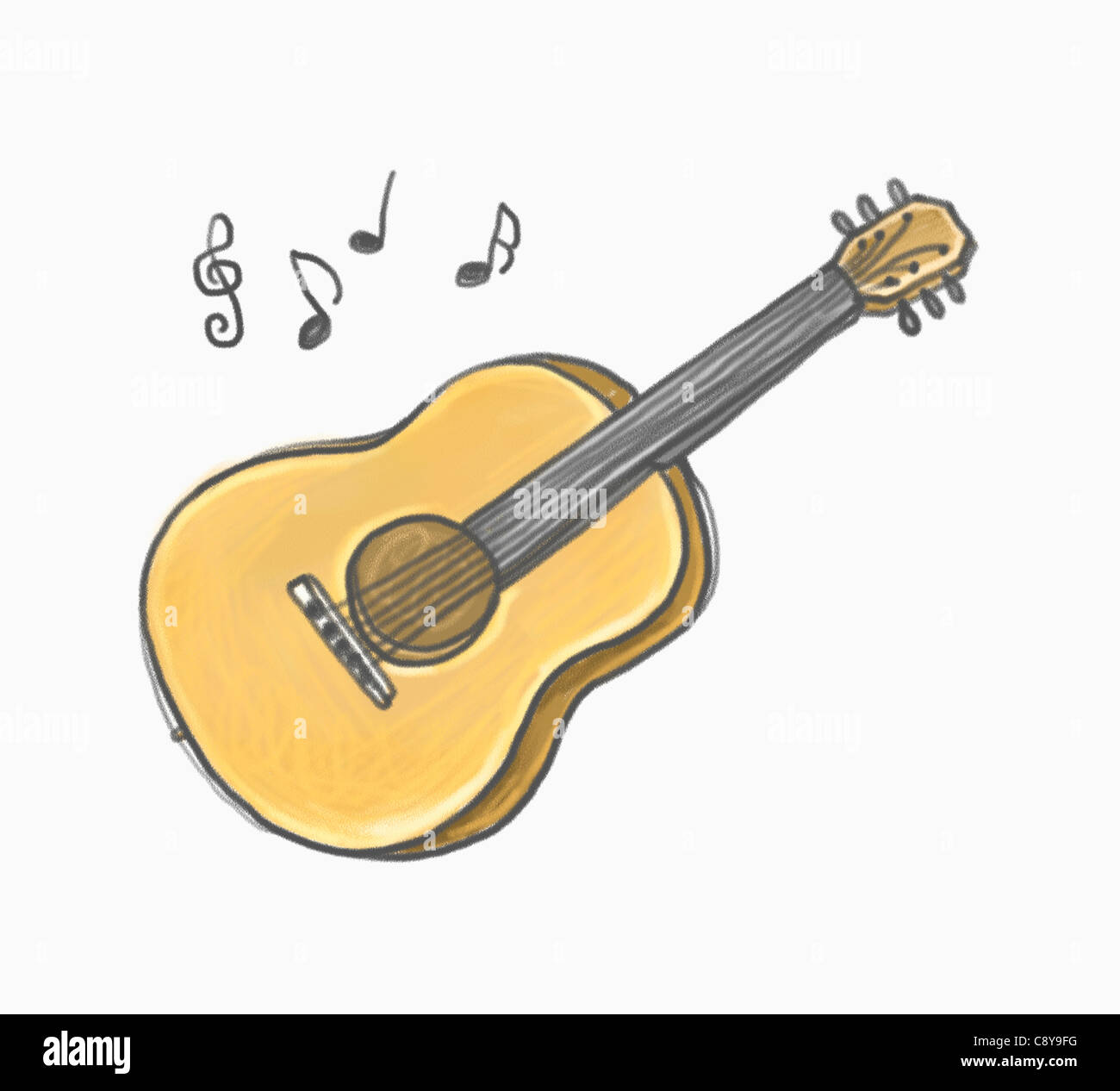Drawing of a guitar Stock Photo: 39938180 - Alamy