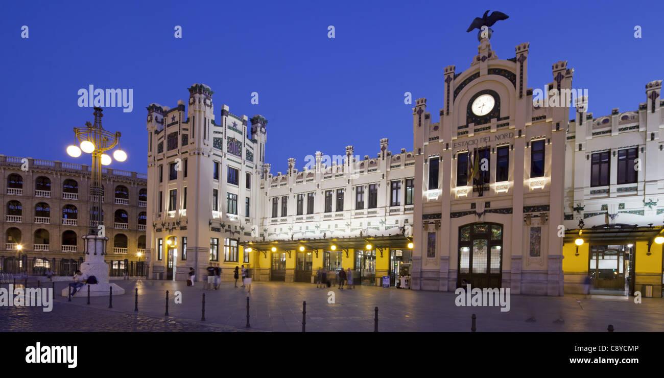 Railway Station Estacion del Nord, Valencia, Spain - Stock Image