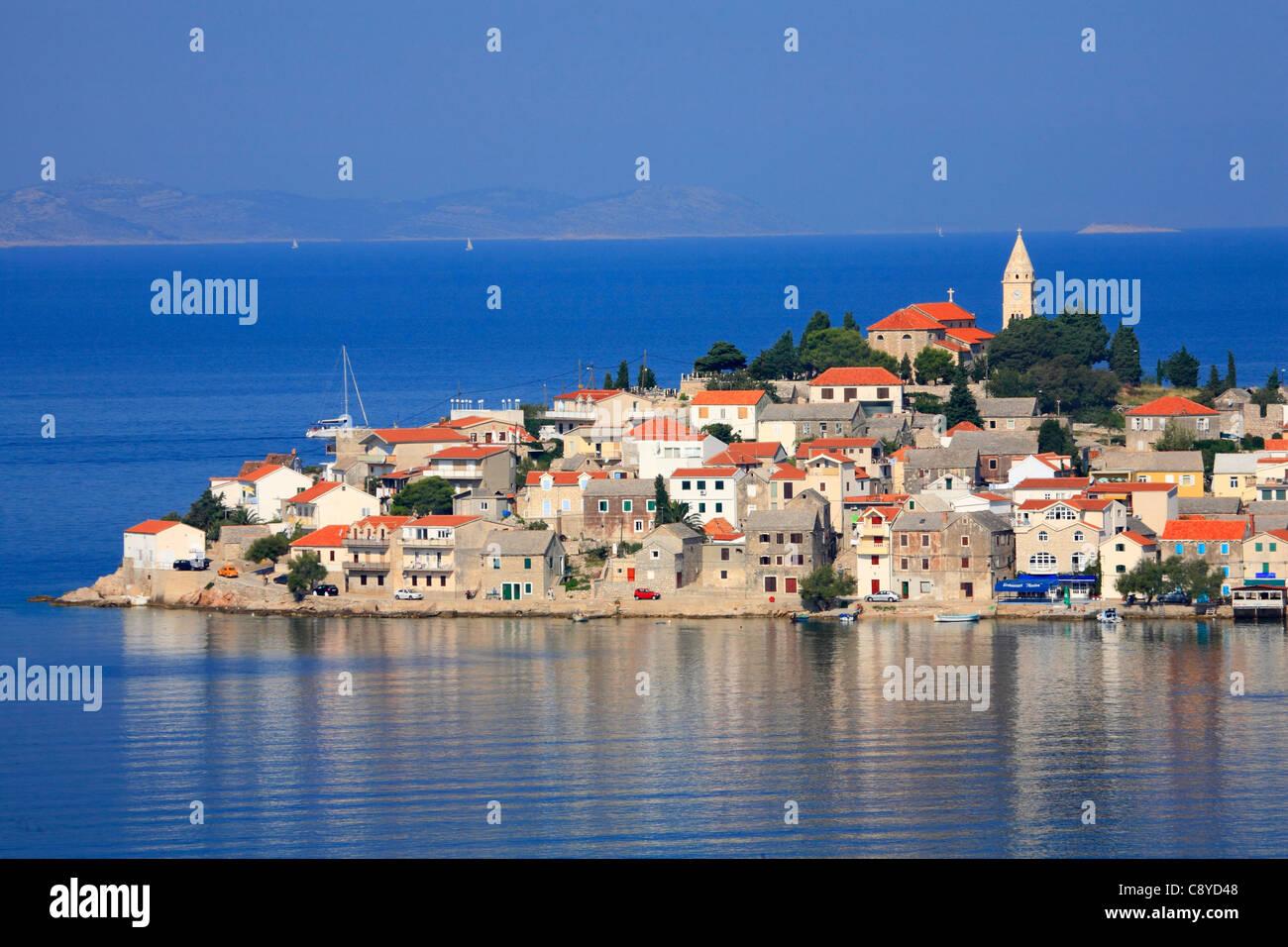 Primosten town in Croatia - Stock Image