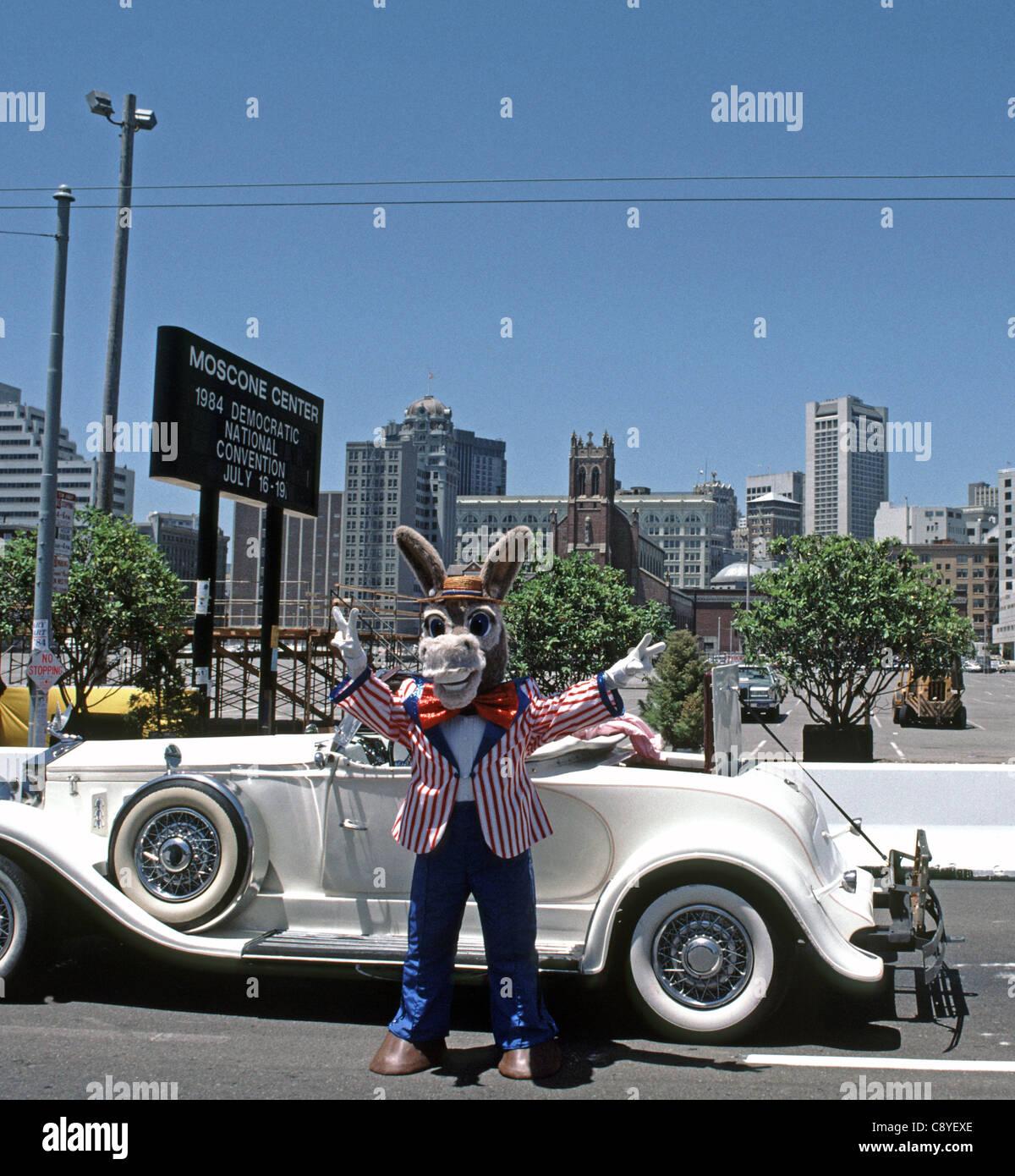 1984 Democratic National Convention, San Francisco, California. USA - Stock Image