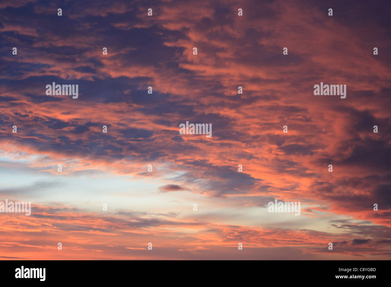 Red sunset - Stock Image