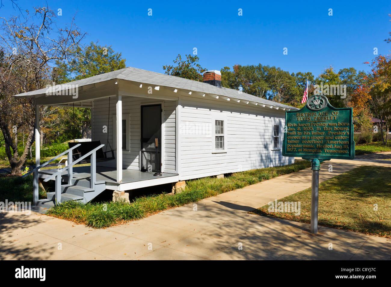 Elvis Presley's Birthplace, Tupelo, Mississippi, USA - Stock Image