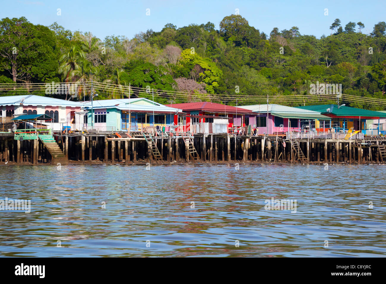 Kampung Ayer, Bandar Seri Begawan, Brunei Darussalam, Asia - Stock Image