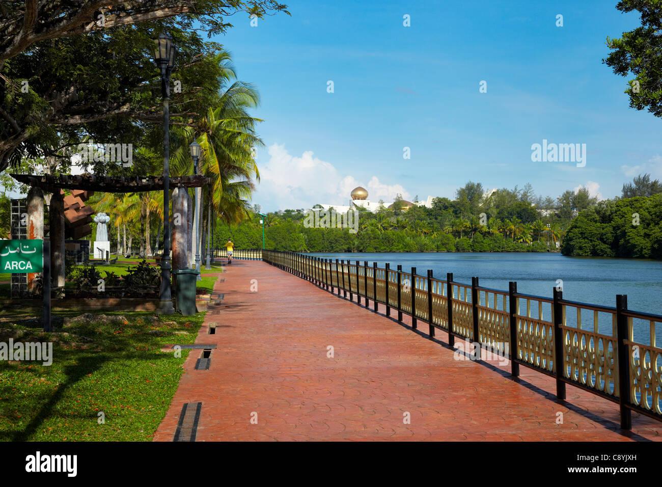 Taman Persiaran Damuan, Bandar Seri Begawan, Brunei Darussalam, Borneo, Asia - Stock Image
