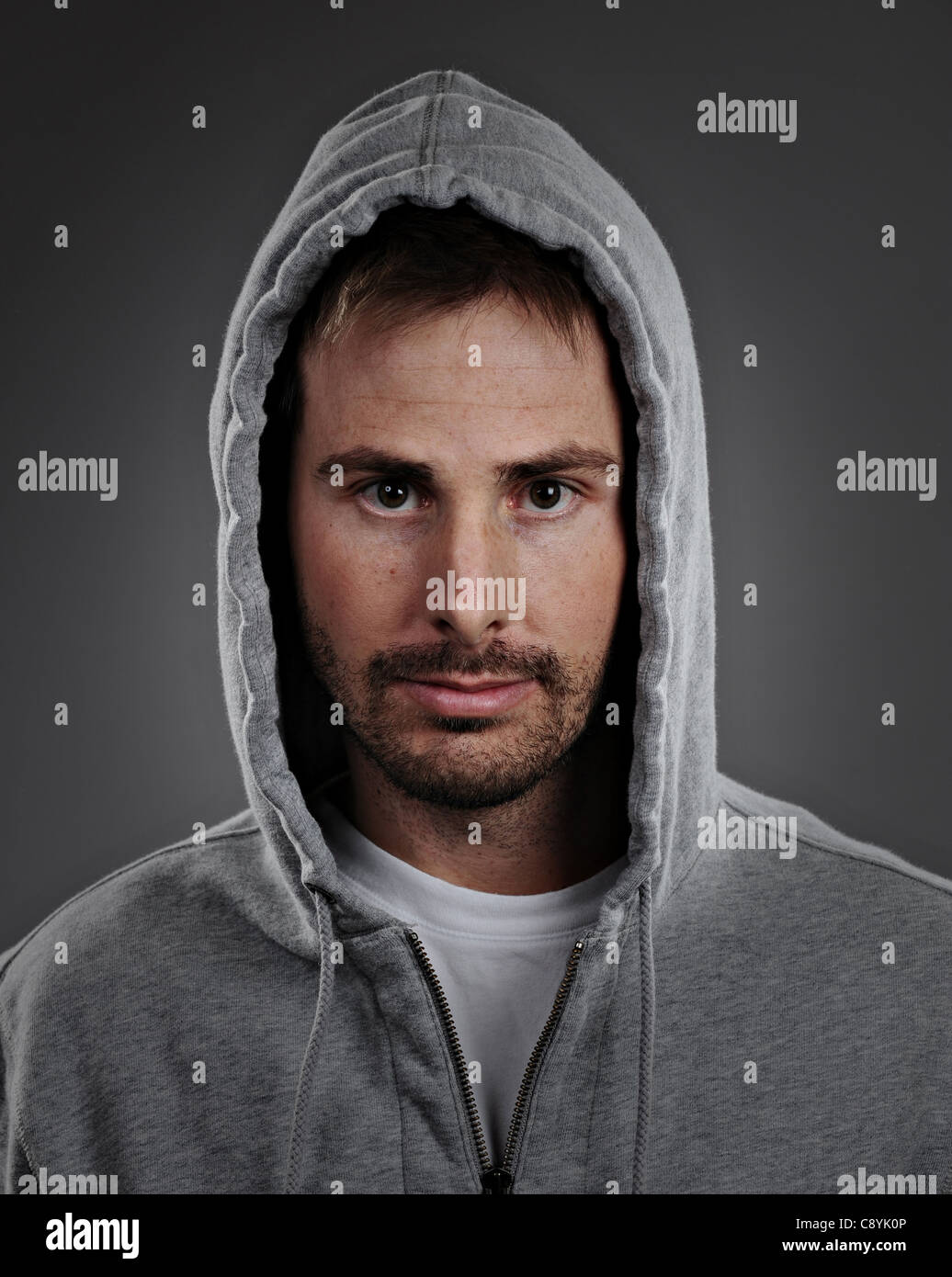 c0fecc2d young man in hoodie Stock Photo: 39945606 - Alamy