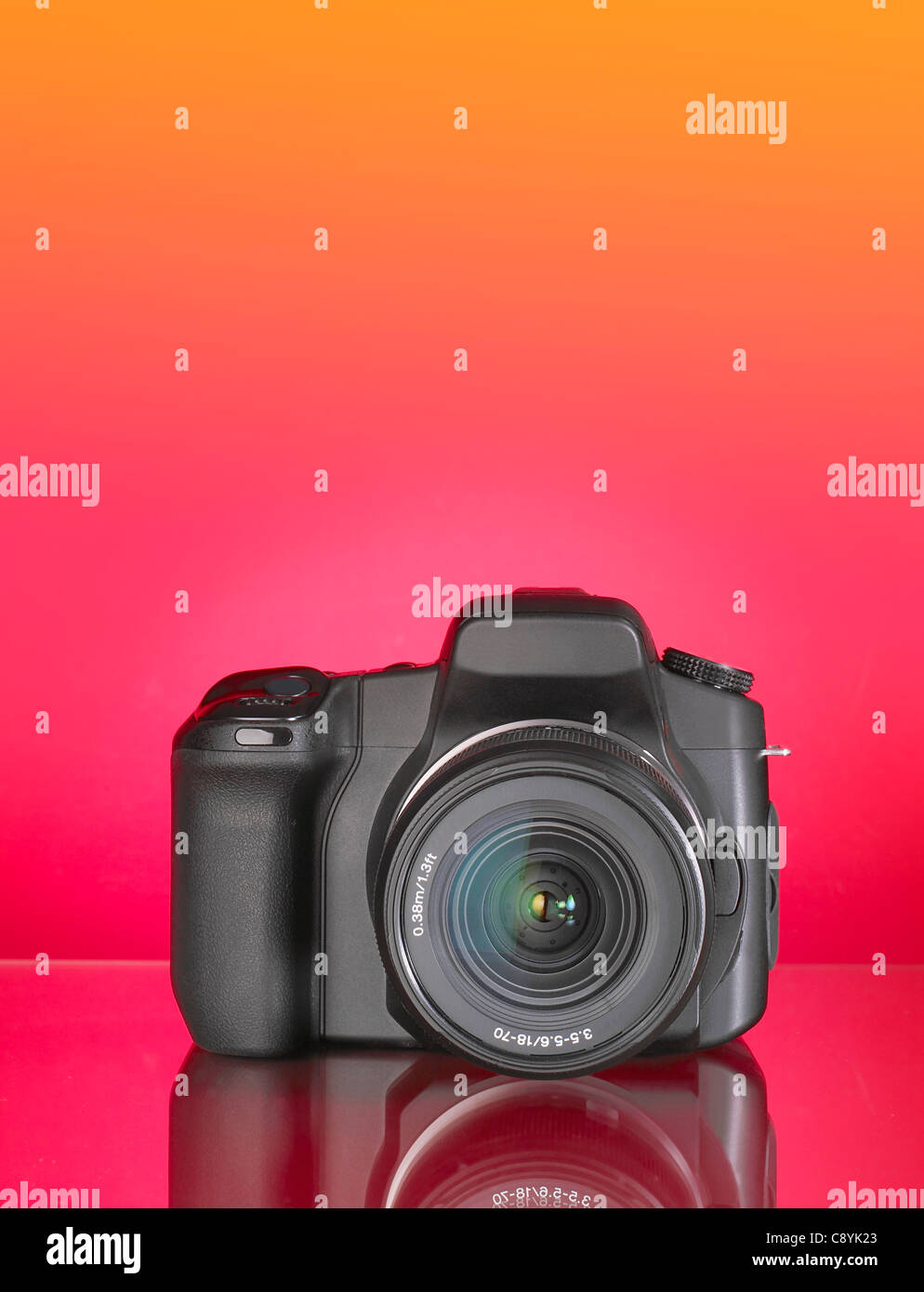 35mm SLR digital camera lens - Stock Image