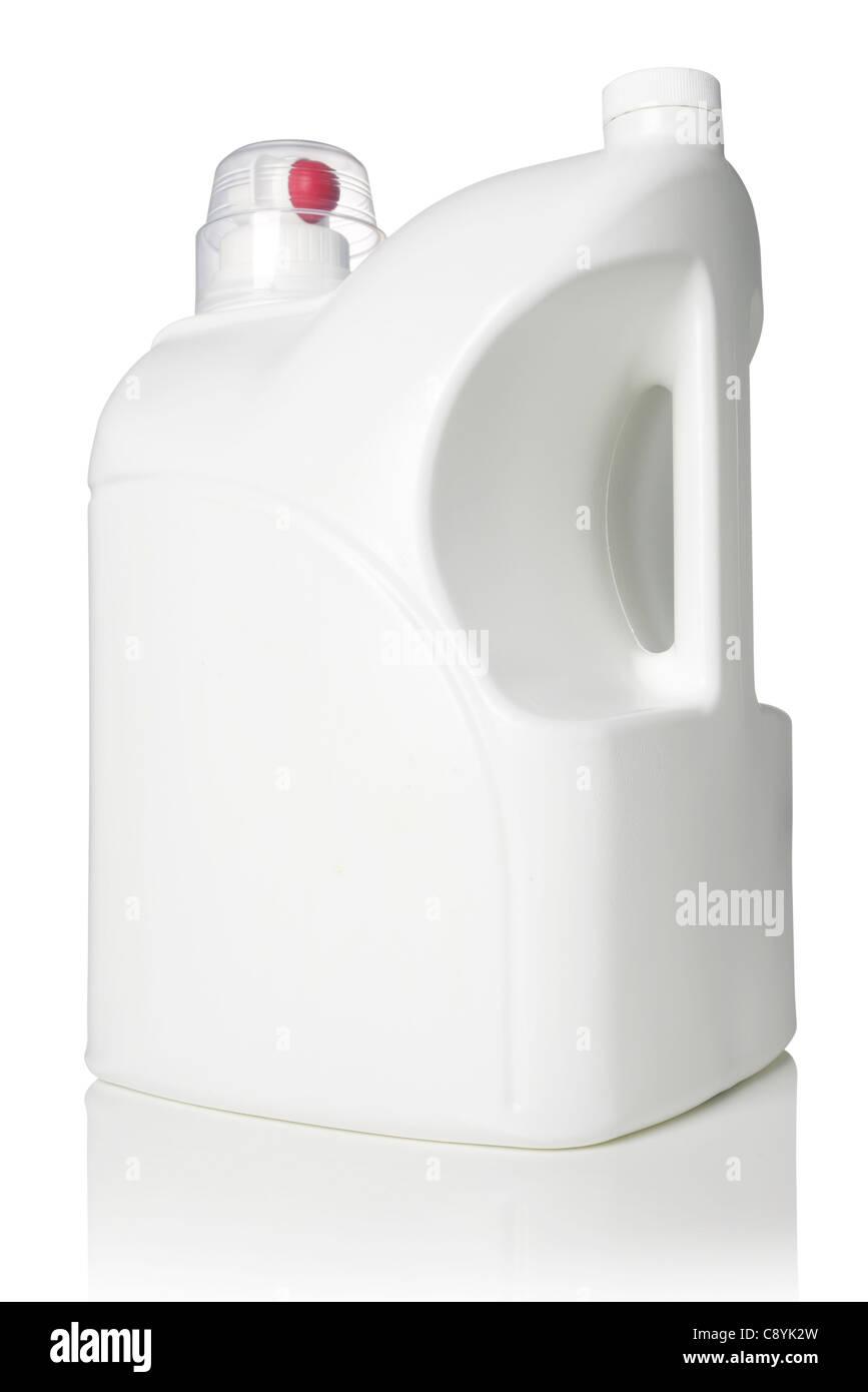 White plastic bottle - Stock Image