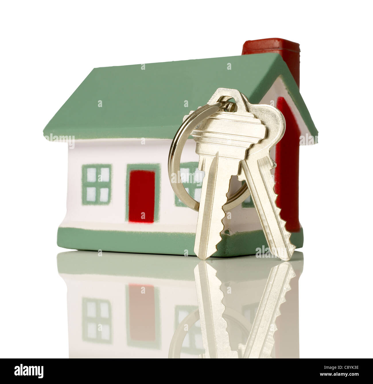 Model house with keys - Stock Image