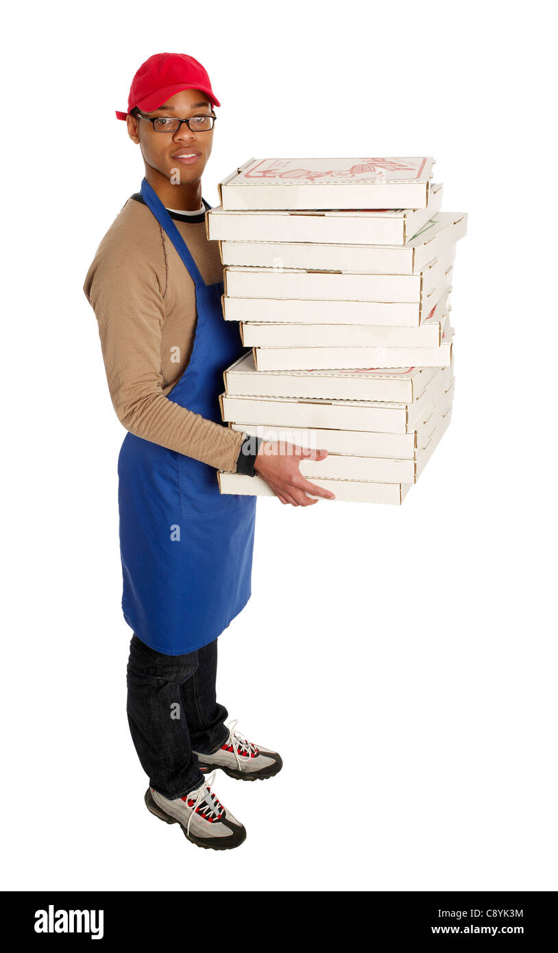 Pizza delivery man - Stock Image