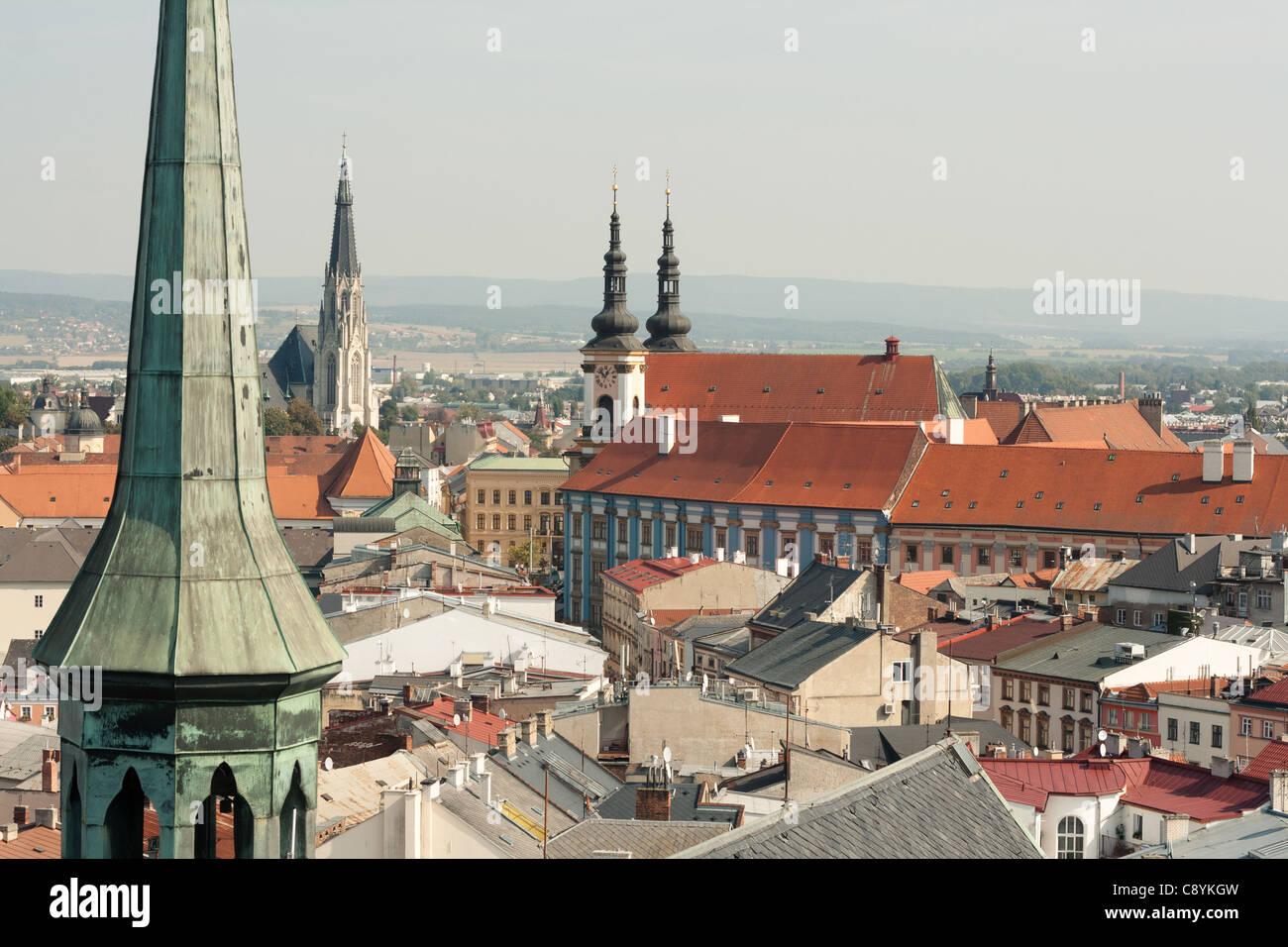 View of the city of Olomouc, Czech Republic - Stock Image