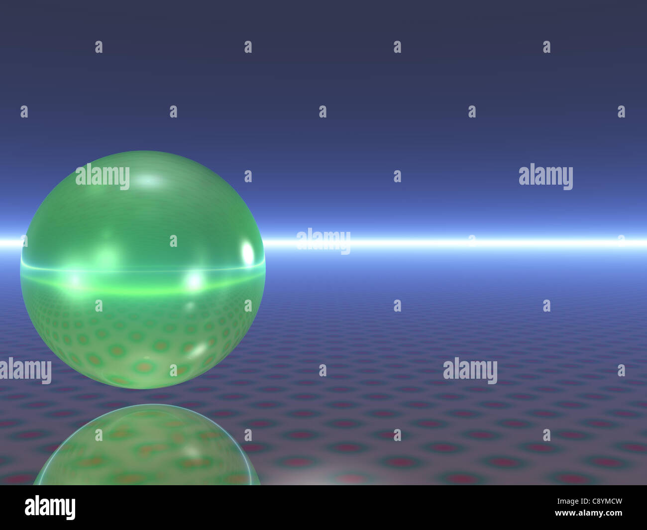 Abstract light reflecting sphere (CGI) - Stock Image