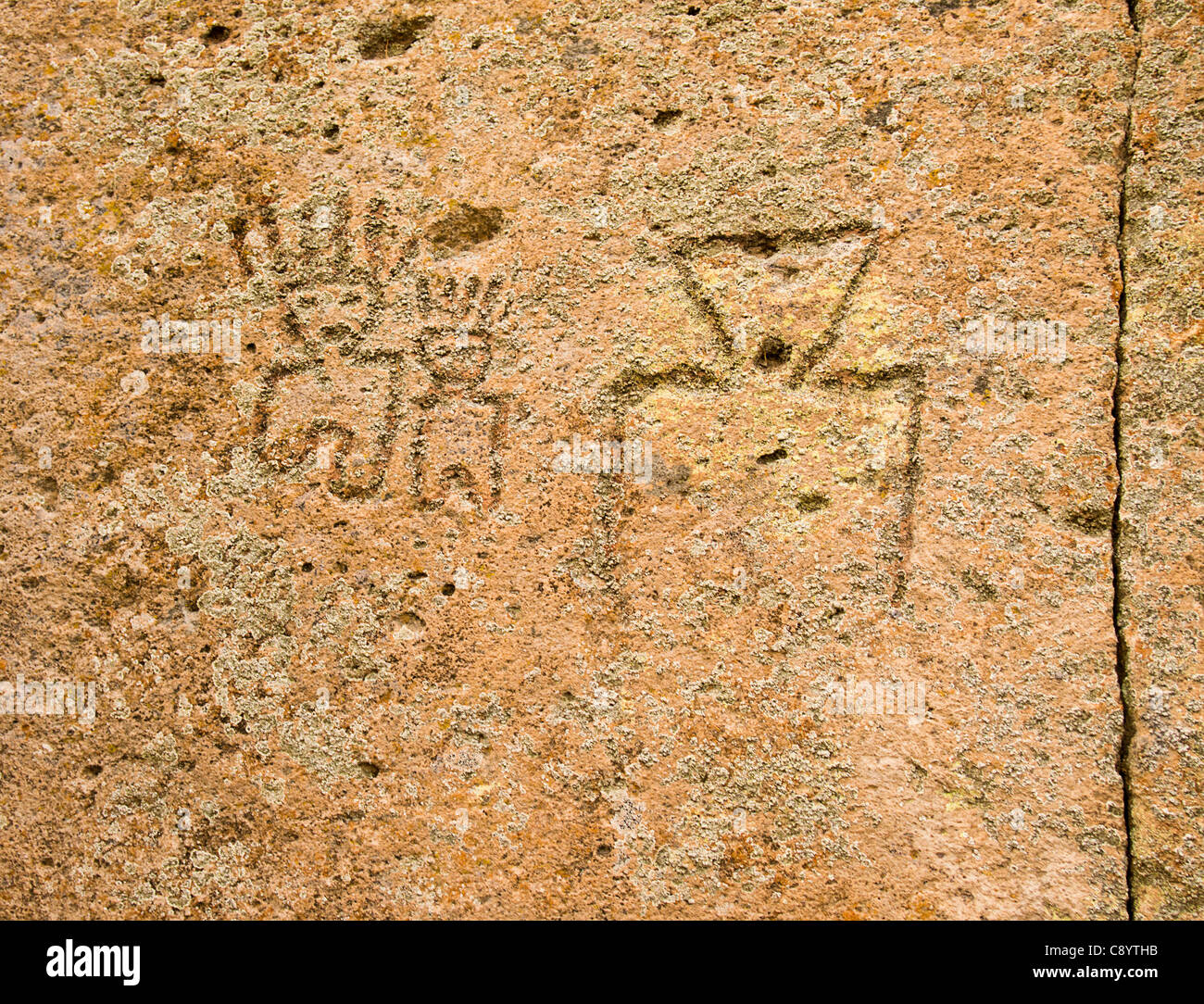 Native American Petroglyphs - Stock Image