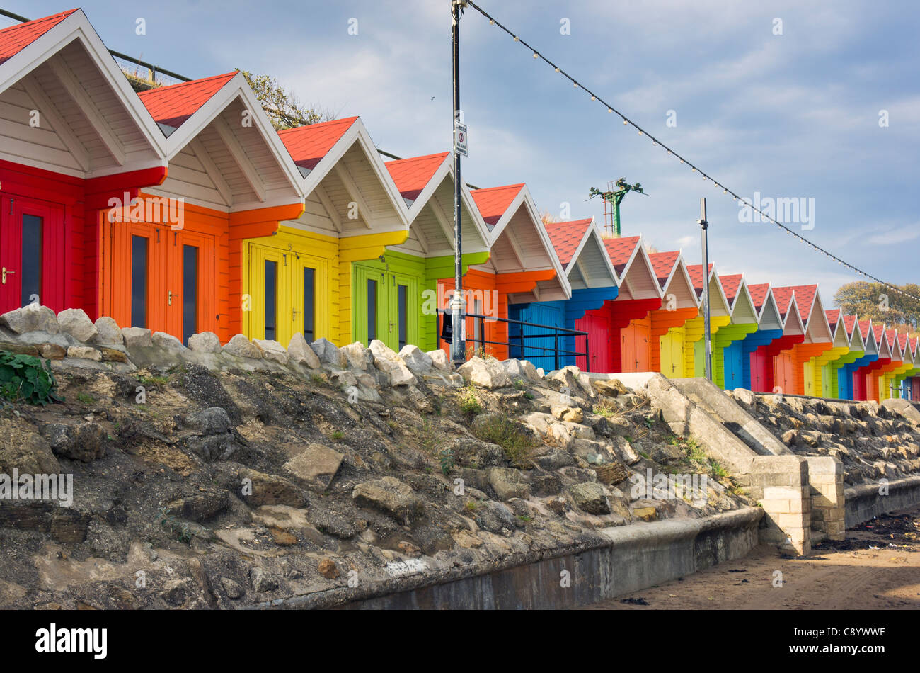 Scarborough Beach Huts 3 - Stock Image