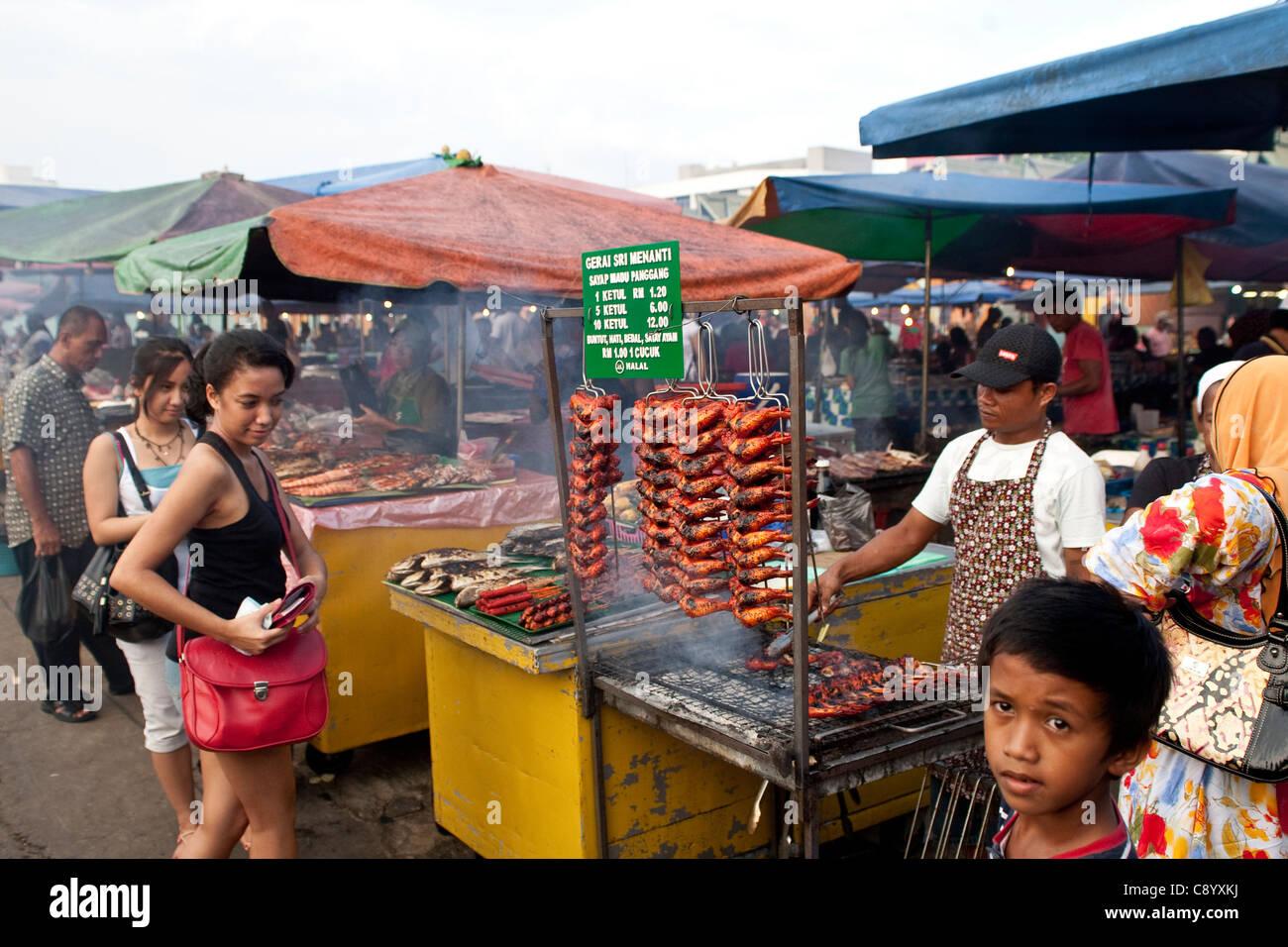 Stall in Philippines Market in Kota Kinabalu, Sabah, Borneo, Malaysia - Stock Image