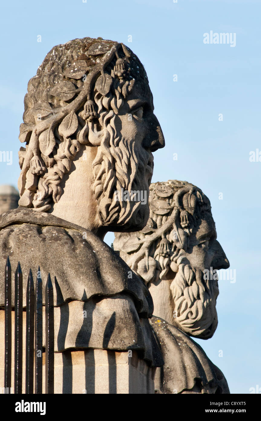 Emperor's Heads, Sheldonian Theatre, Broad Street, Oxford. Stock Photo