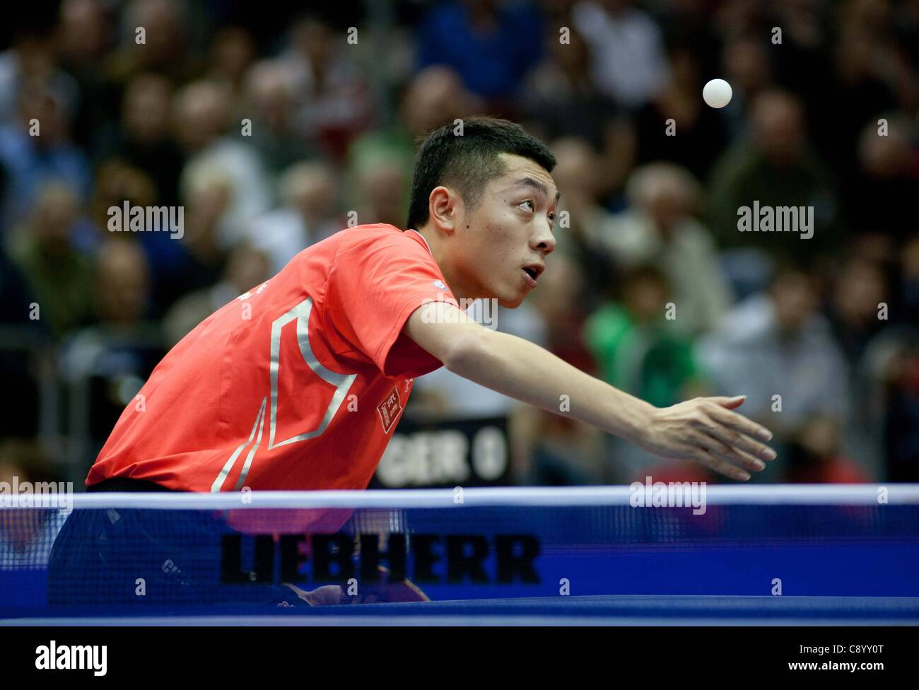 05 11 2011 Magdeburg, Germany. Xu Xin China Semi-finals Germany vs China Table Tennis   World team Cup 2011 in the - Stock Image
