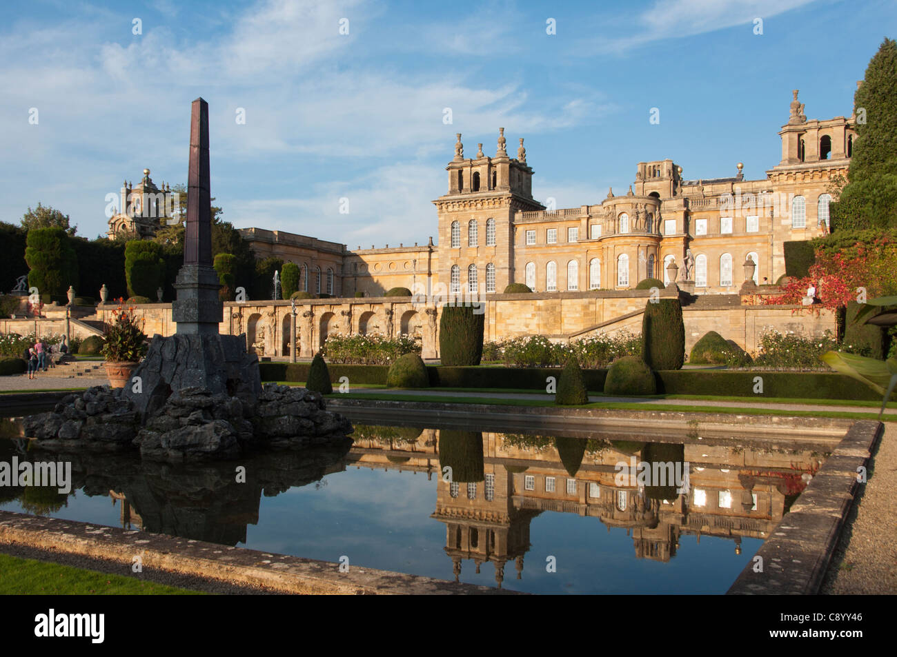 Formal gardens at Blenheim Palace, Oxfordshire. UK - Stock Image