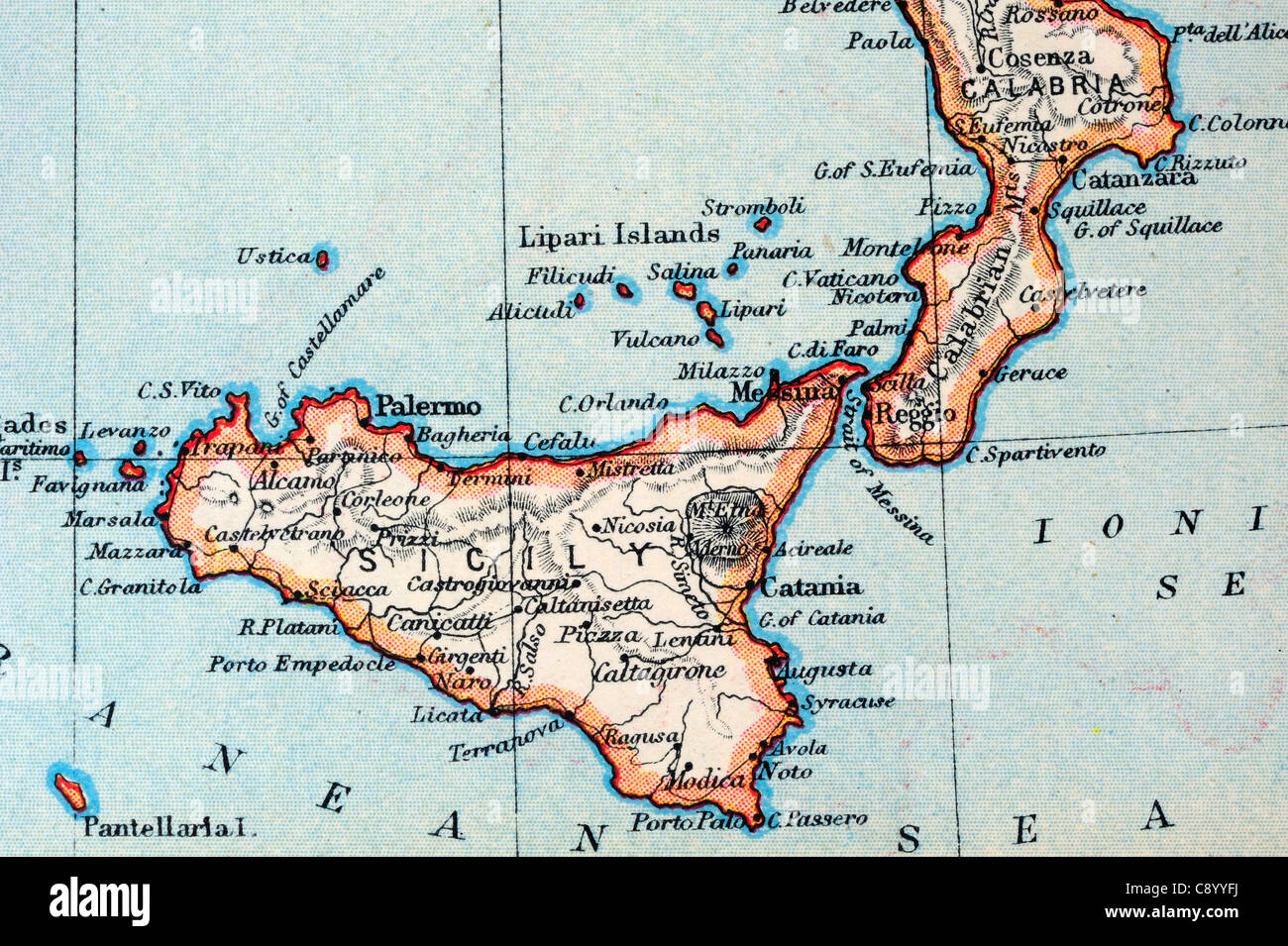 Italy Map Antique Stock Photos Italy Map Antique Stock Images Alamy