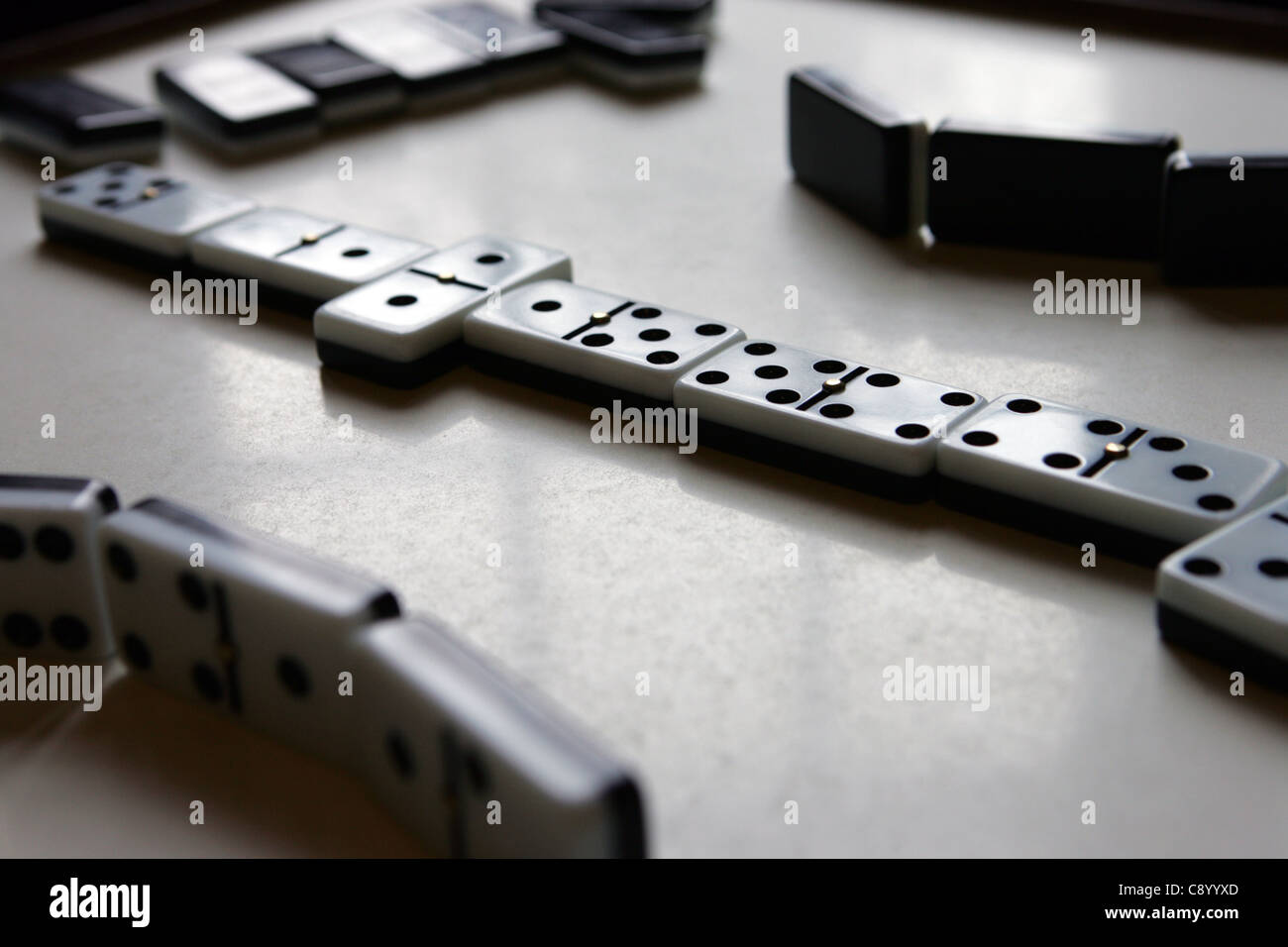 Dominoes in a public house, North East, England. - Stock Image