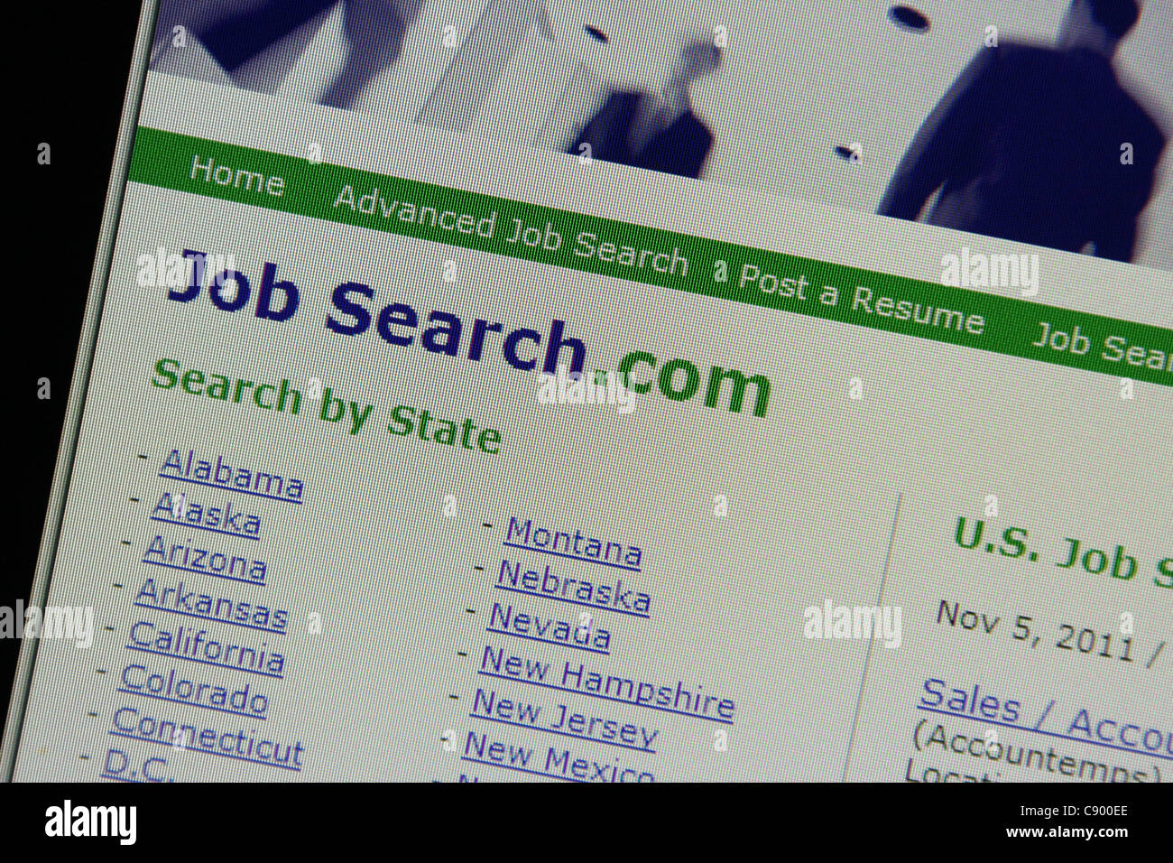 online job search - Stock Image