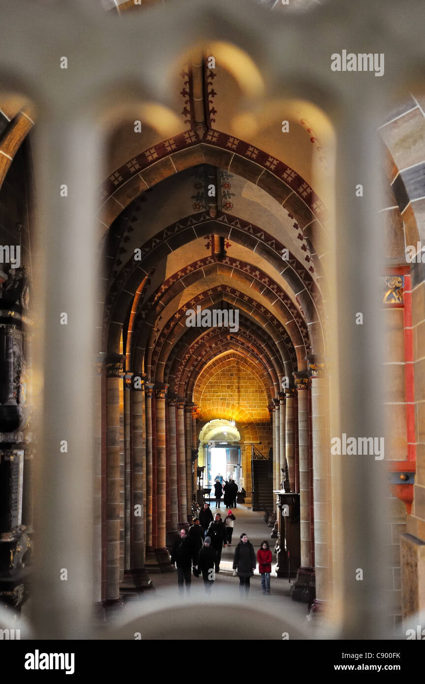 Interior of the cathedral of Bremen - Germany Stock Photo