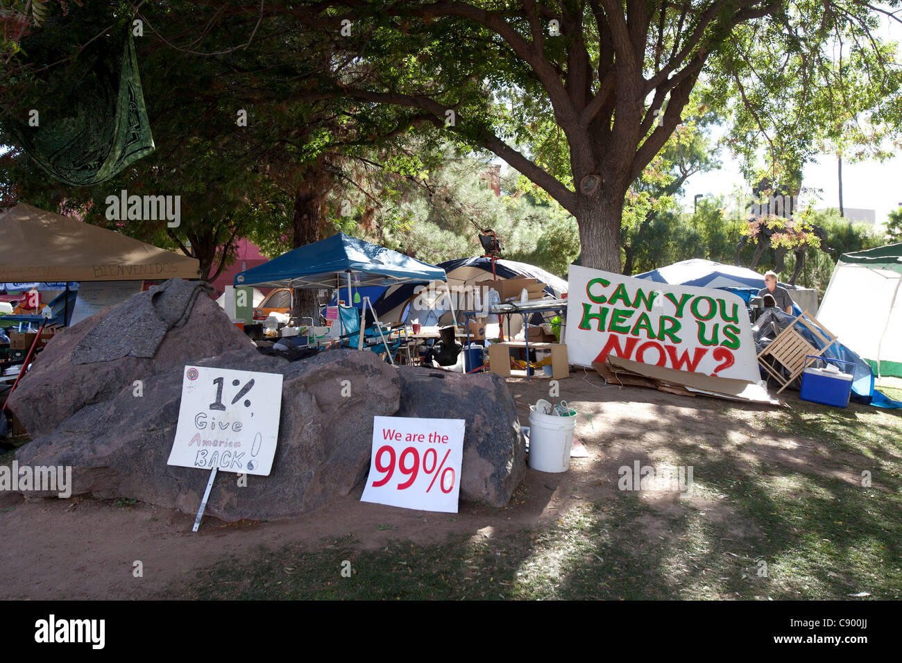 On Thursday night(NOV.4) at approximately 11pm, the Tucson Police Department forced Occupy Tucson to vacate Armory - Stock Image