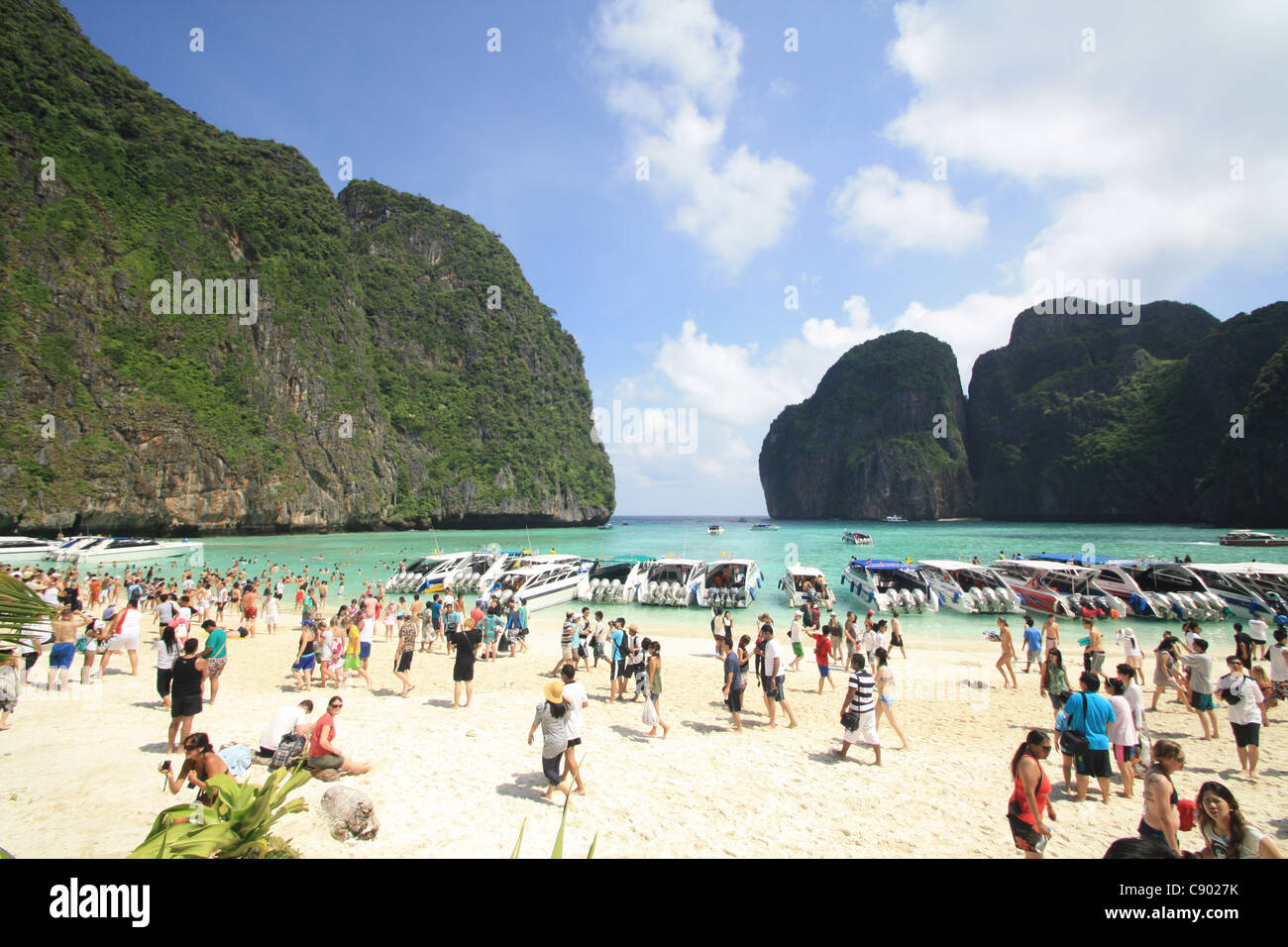 The Beach crowds, Thailand - Stock Image
