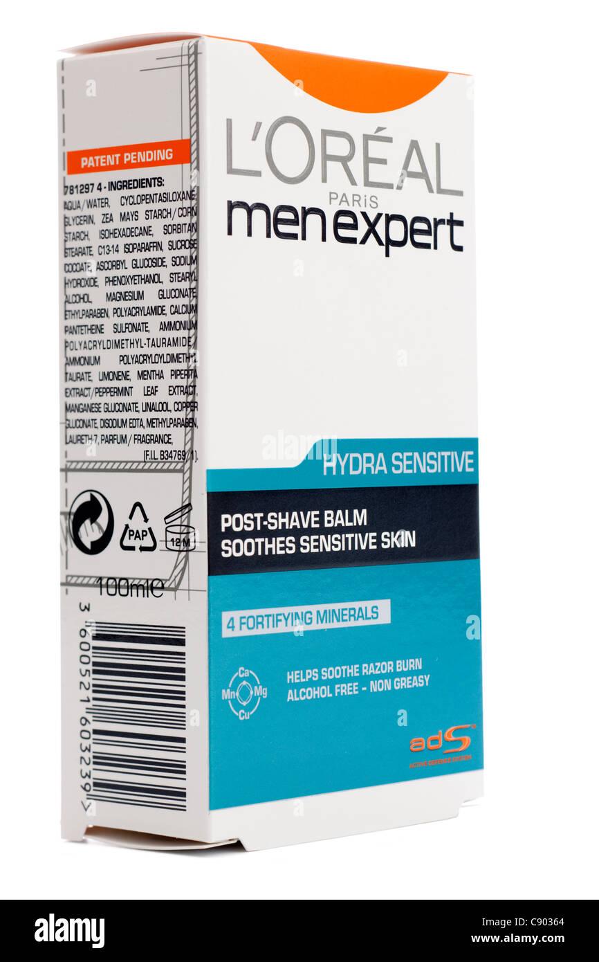 L'Oreal Paris men expert post shave balm for sensitive skin - Stock Image