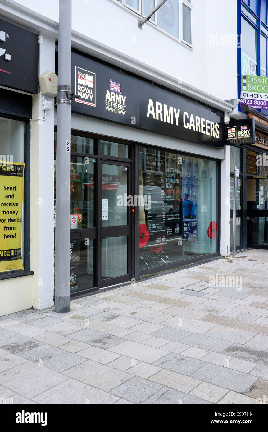 Army Careers office in Southampton UK - Stock Image