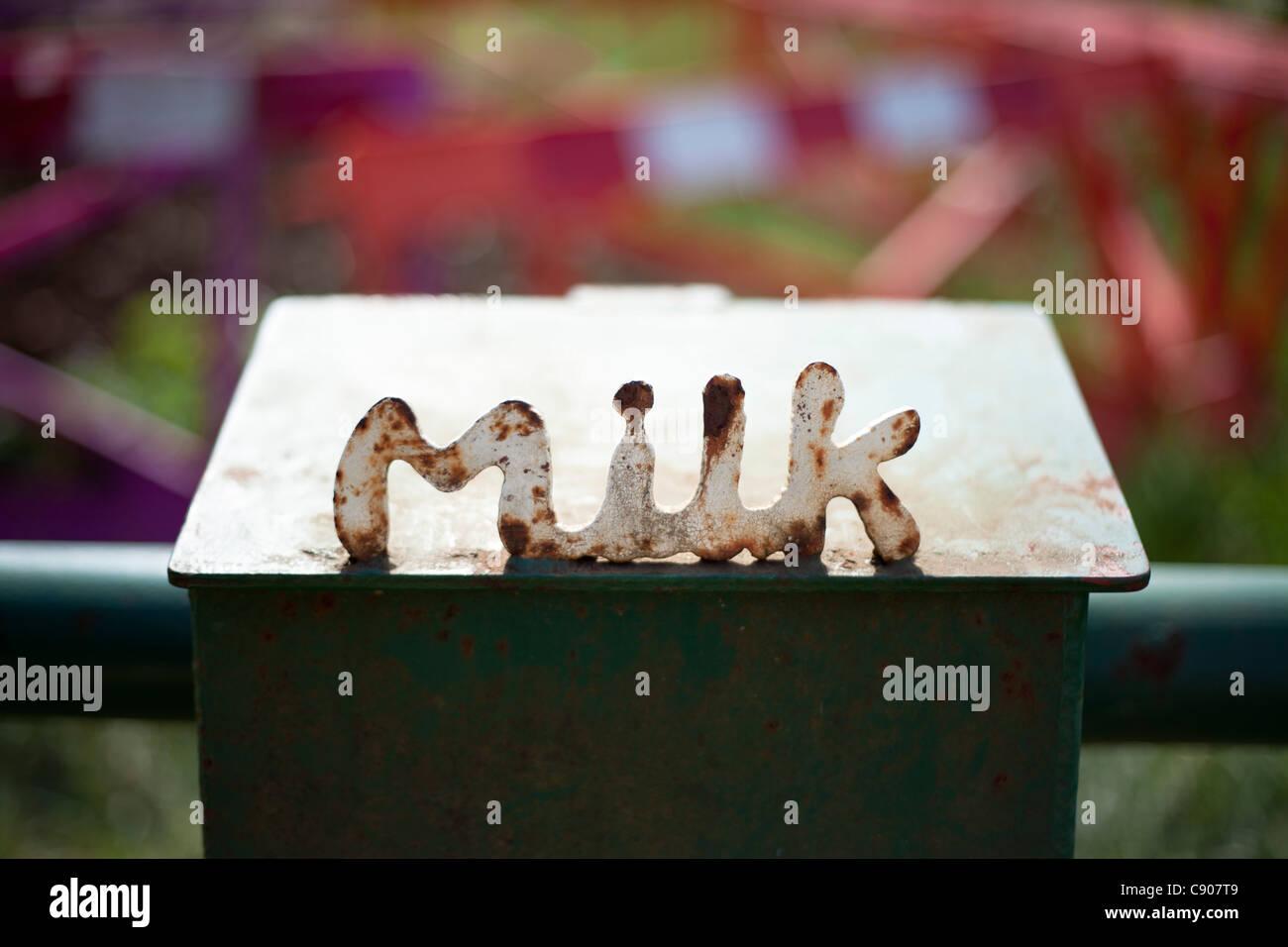 Milk Box - Stock Image