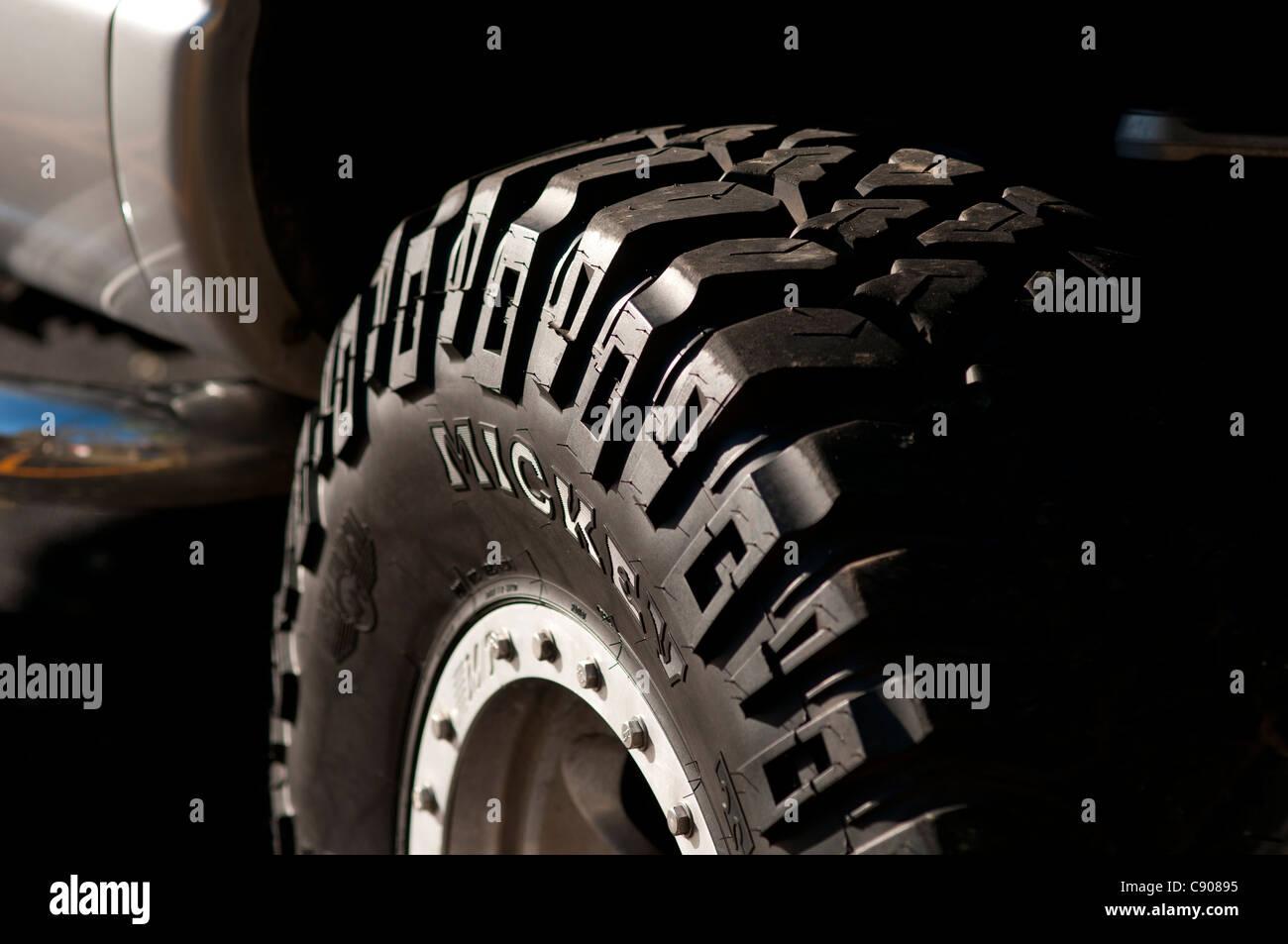 Tire tread. - Stock Image