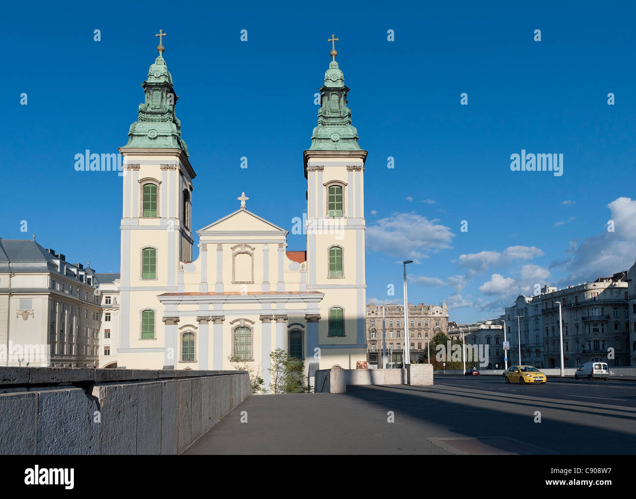 Belvárosi plébánia templom, Inner City Parish Church, Budapest - Stock Image