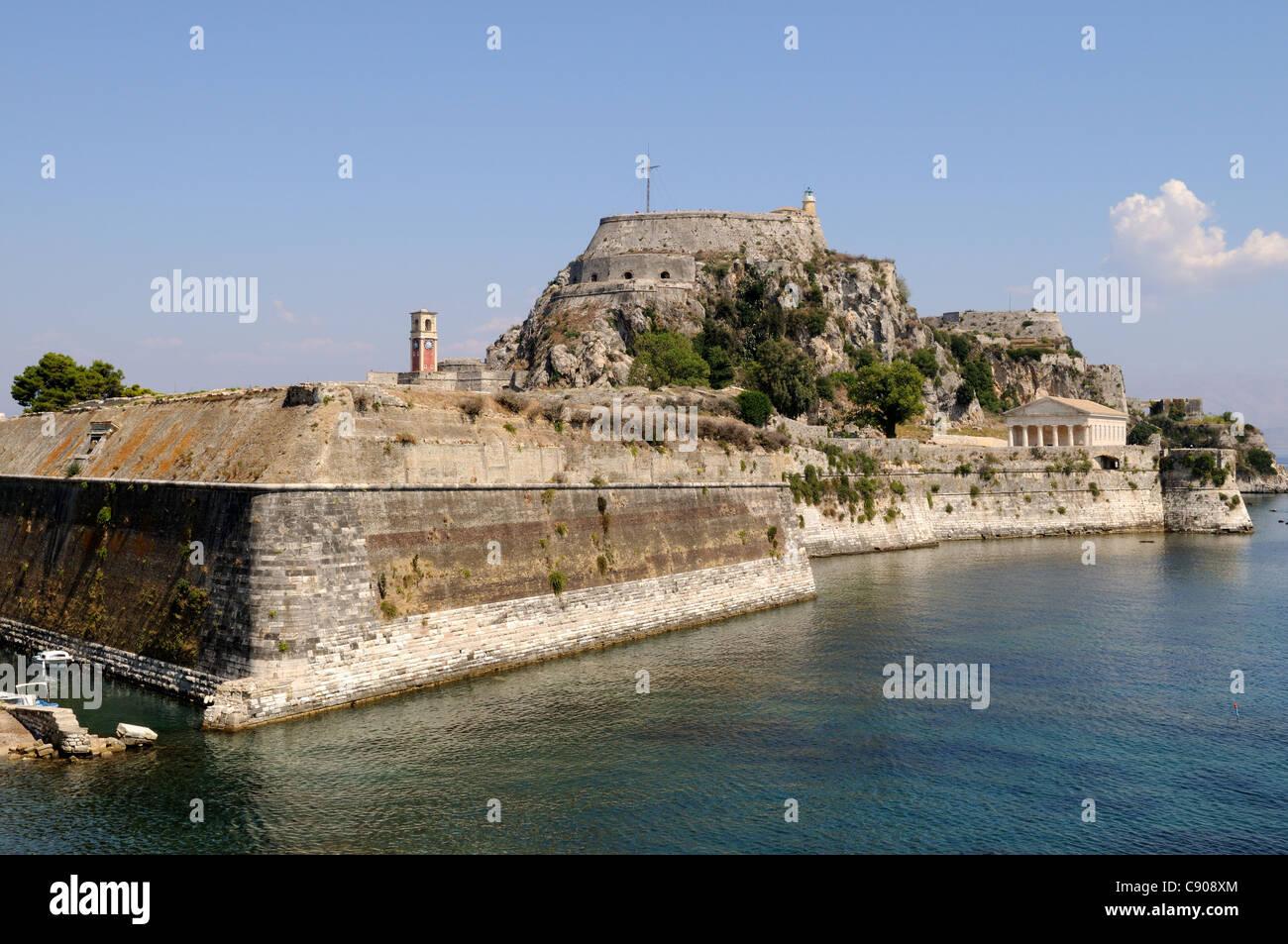 Corfu Town Old Venetian Fortress Kerkyra Greece Stock Photo