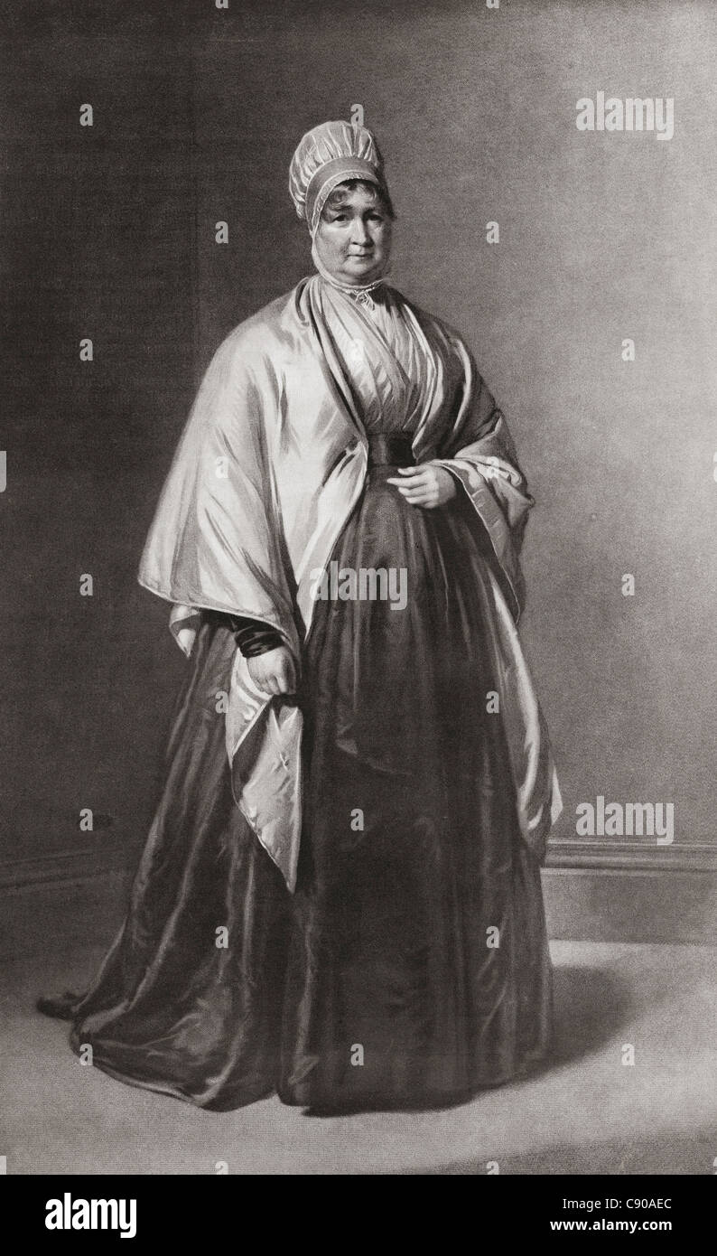 Elizabeth Betsy Fry, 1780 – 1845, née Gurney. English prison reformer, social reformer and Christian philanthropist Stock Photo
